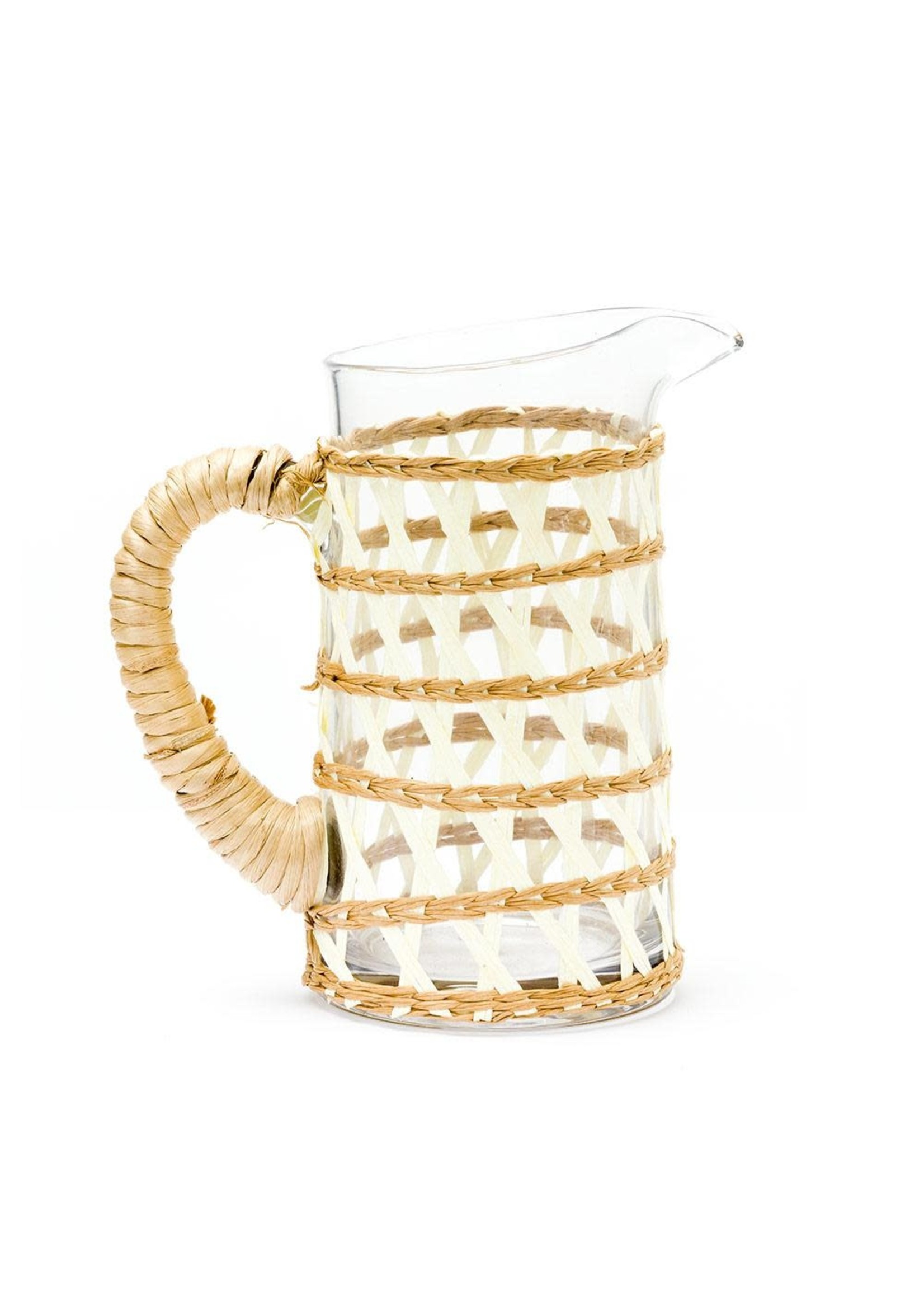 Amanda Lindroth Island Wrapped Pitcher Small - White