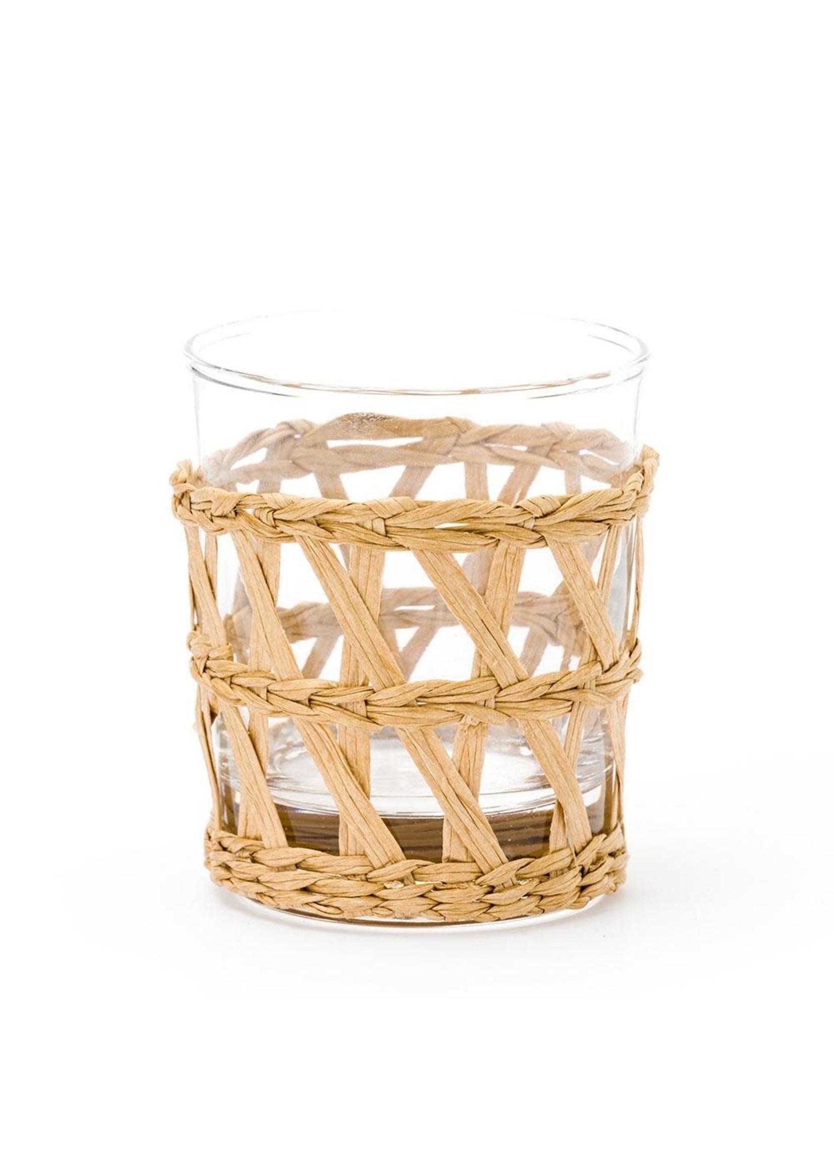 Amanda Lindroth Island Wrapped Tumbler Glass - Natural