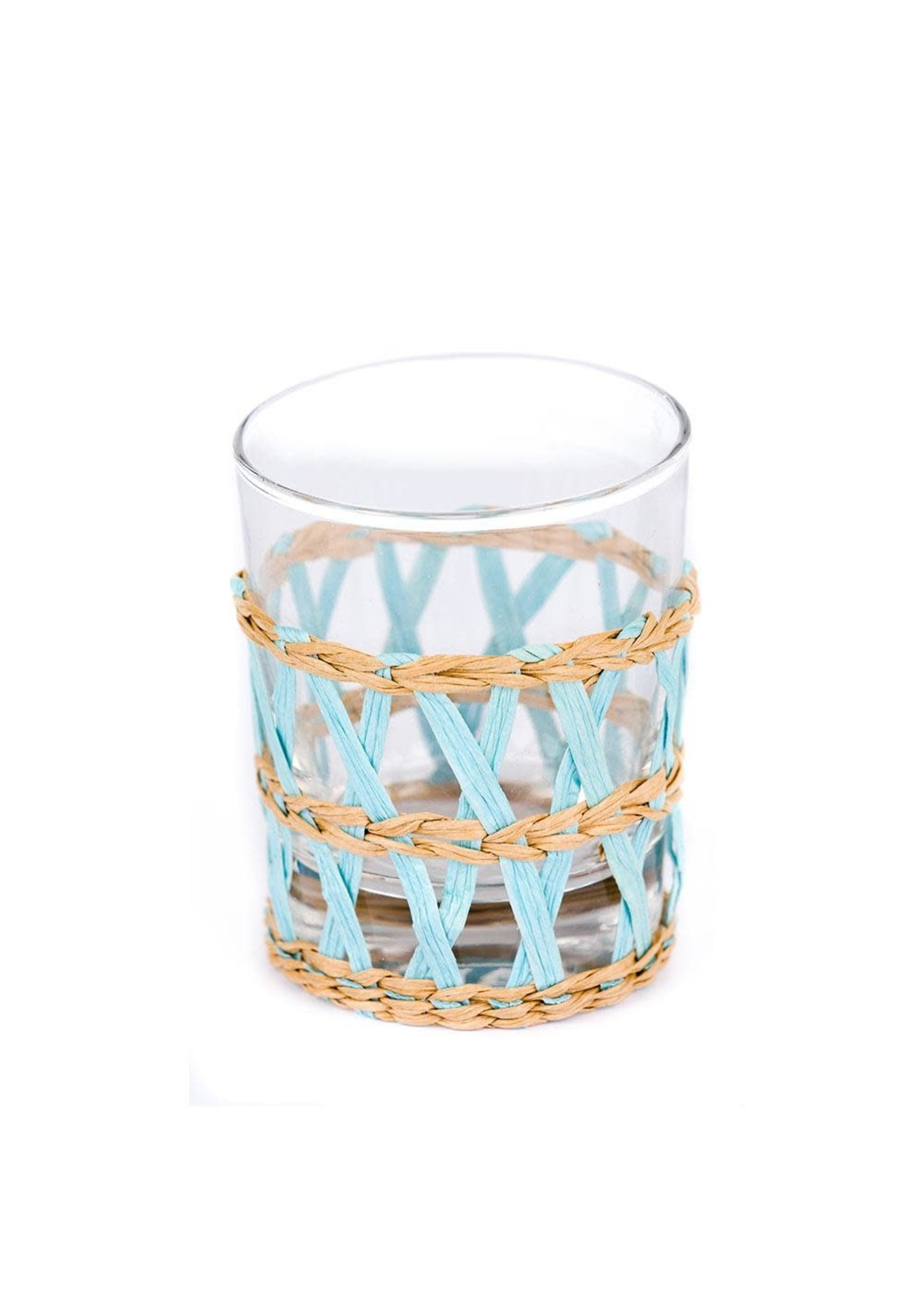 Amanda Lindroth Island Wrapped Tumbler Glass - Light Blue