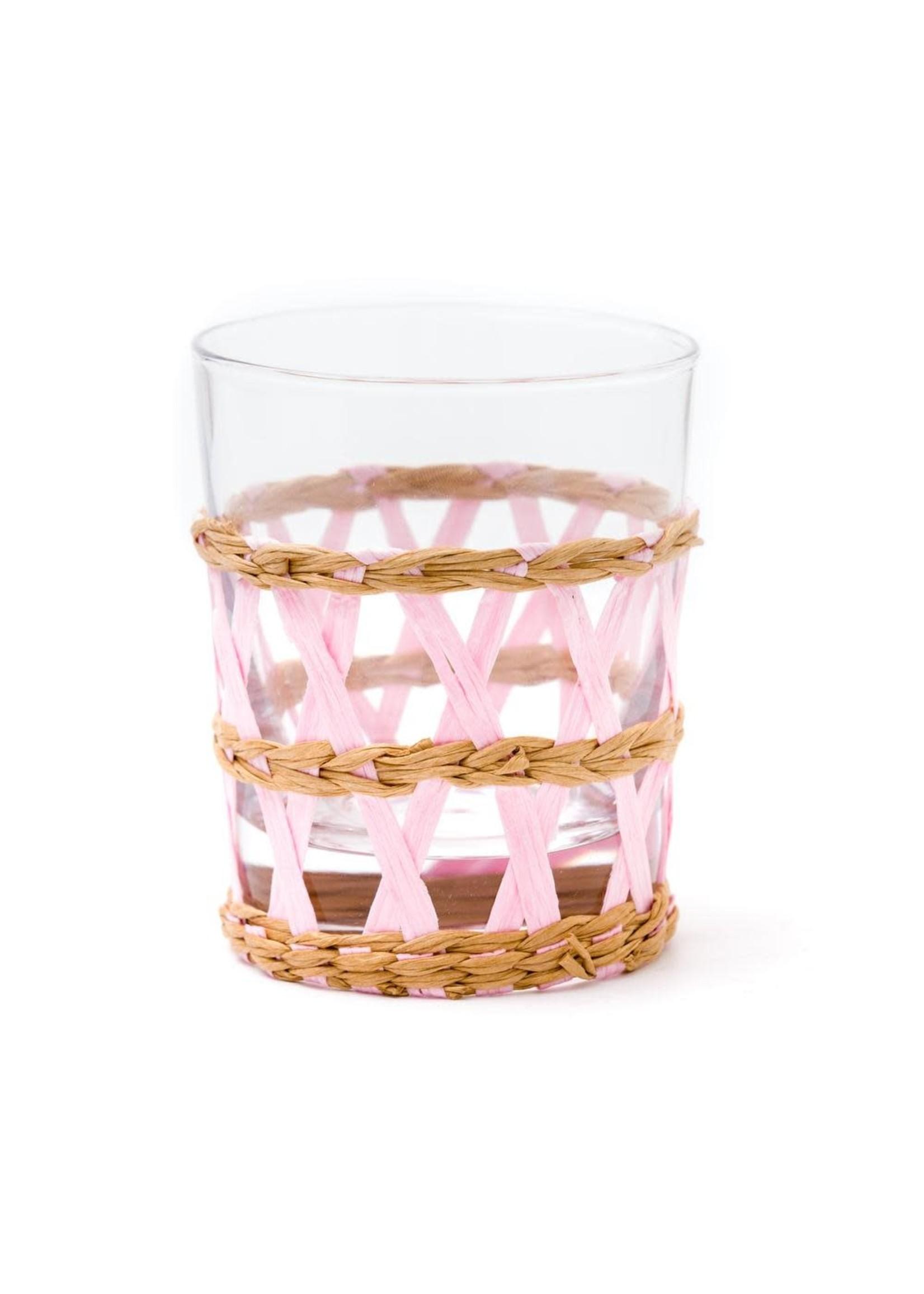 Amanda Lindroth Island Wrapped Tumbler Glass - Pink