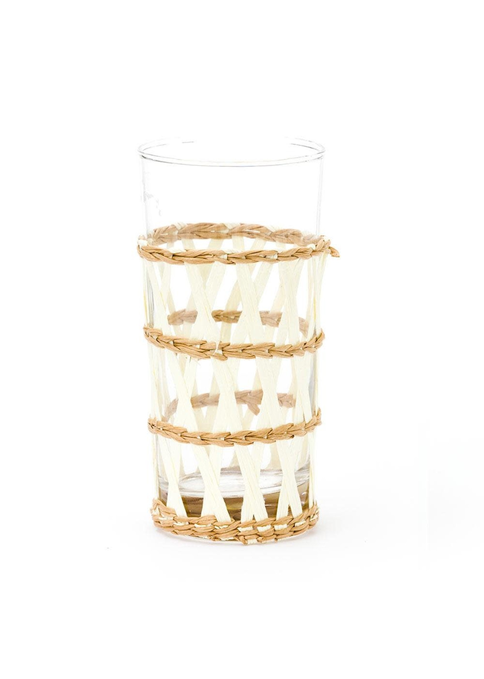 Amanda Lindroth Island Wrapped Ice Tea Glass - White
