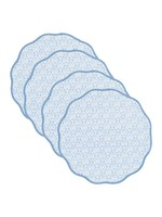 Amanda Lindroth Placemats - Peacock Blue (set of 4)