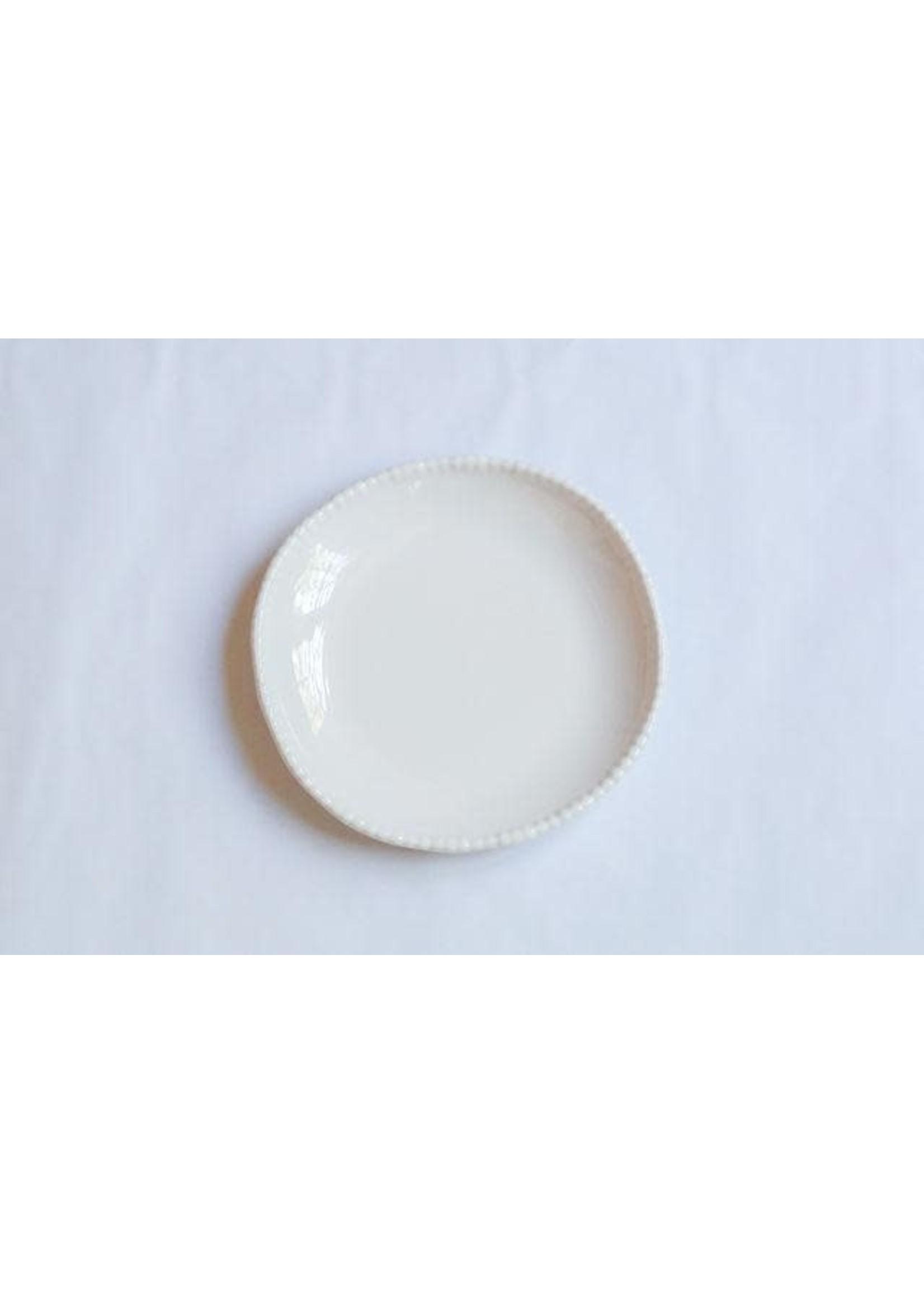 Relish Melamine - Beaded Dinner Plate - Cream