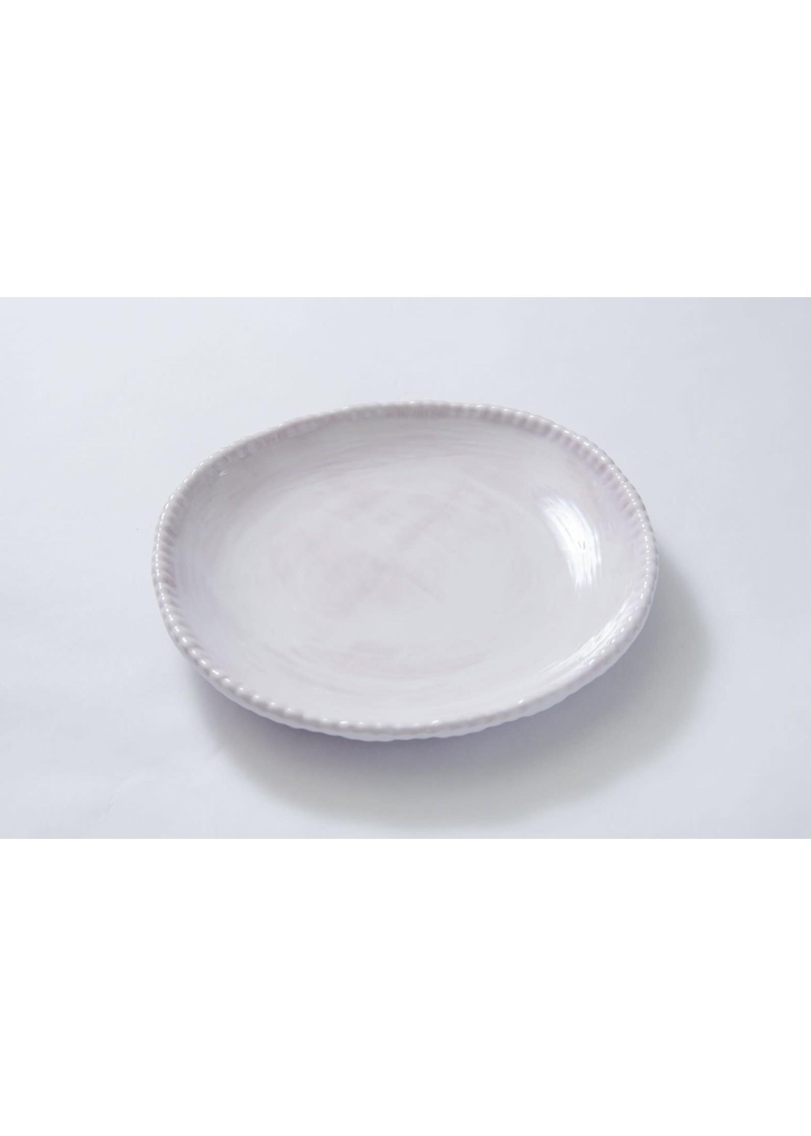Relish Melamine - Beaded Dinner Plate - White