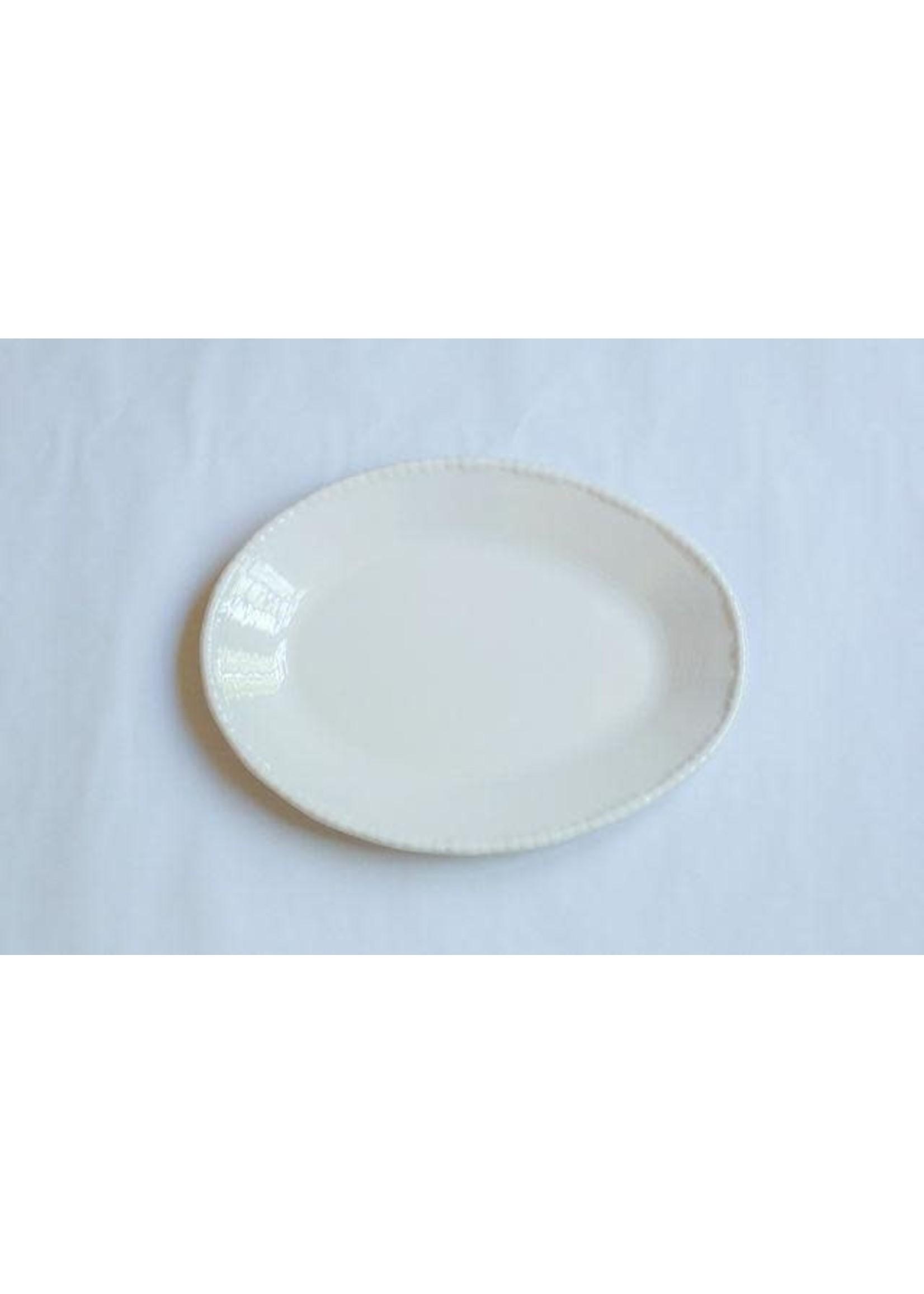 Relish Melamine - Beaded Oval Serving Dish - Cream