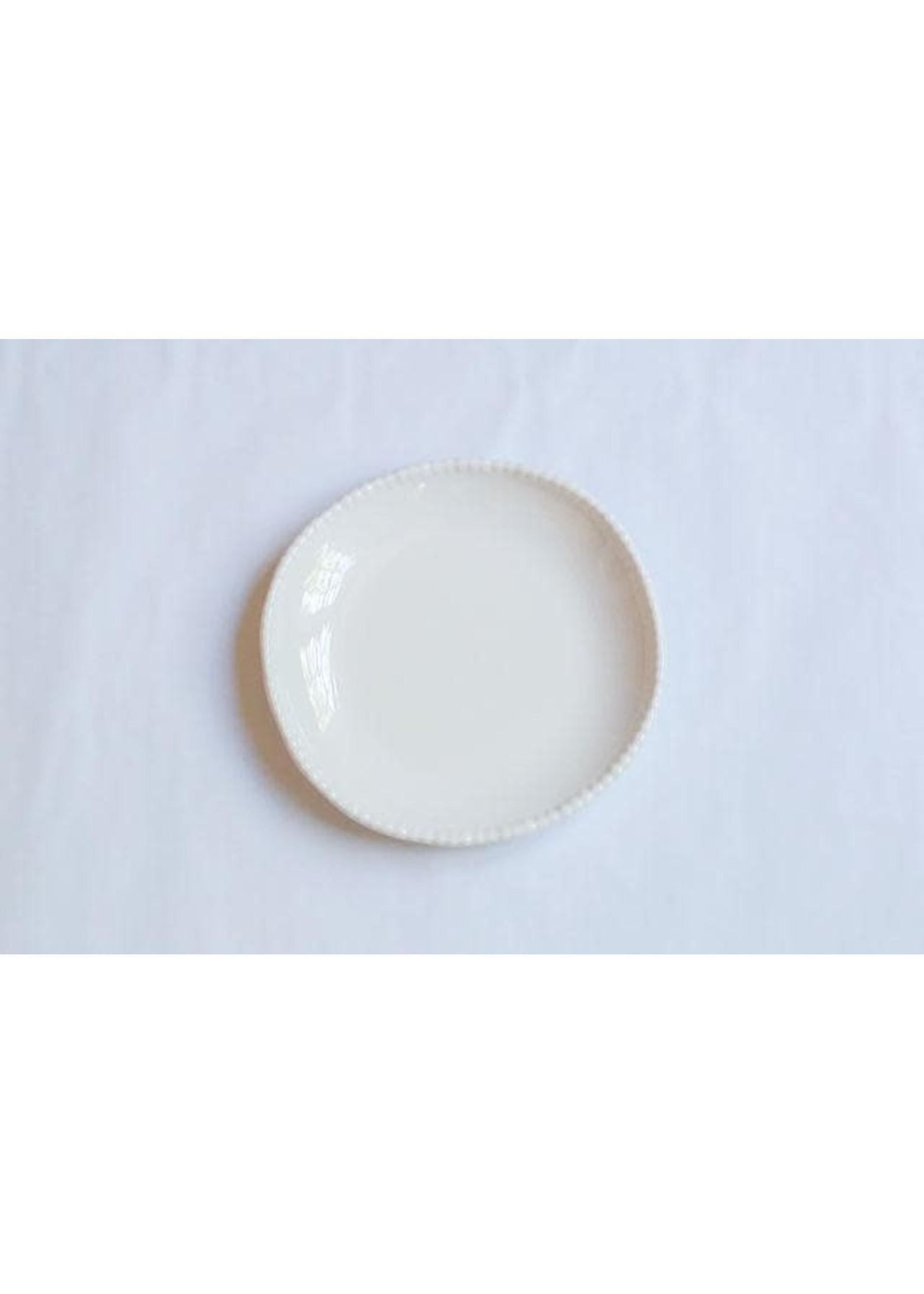 Relish Melamine - Beaded Salad Plate - Cream