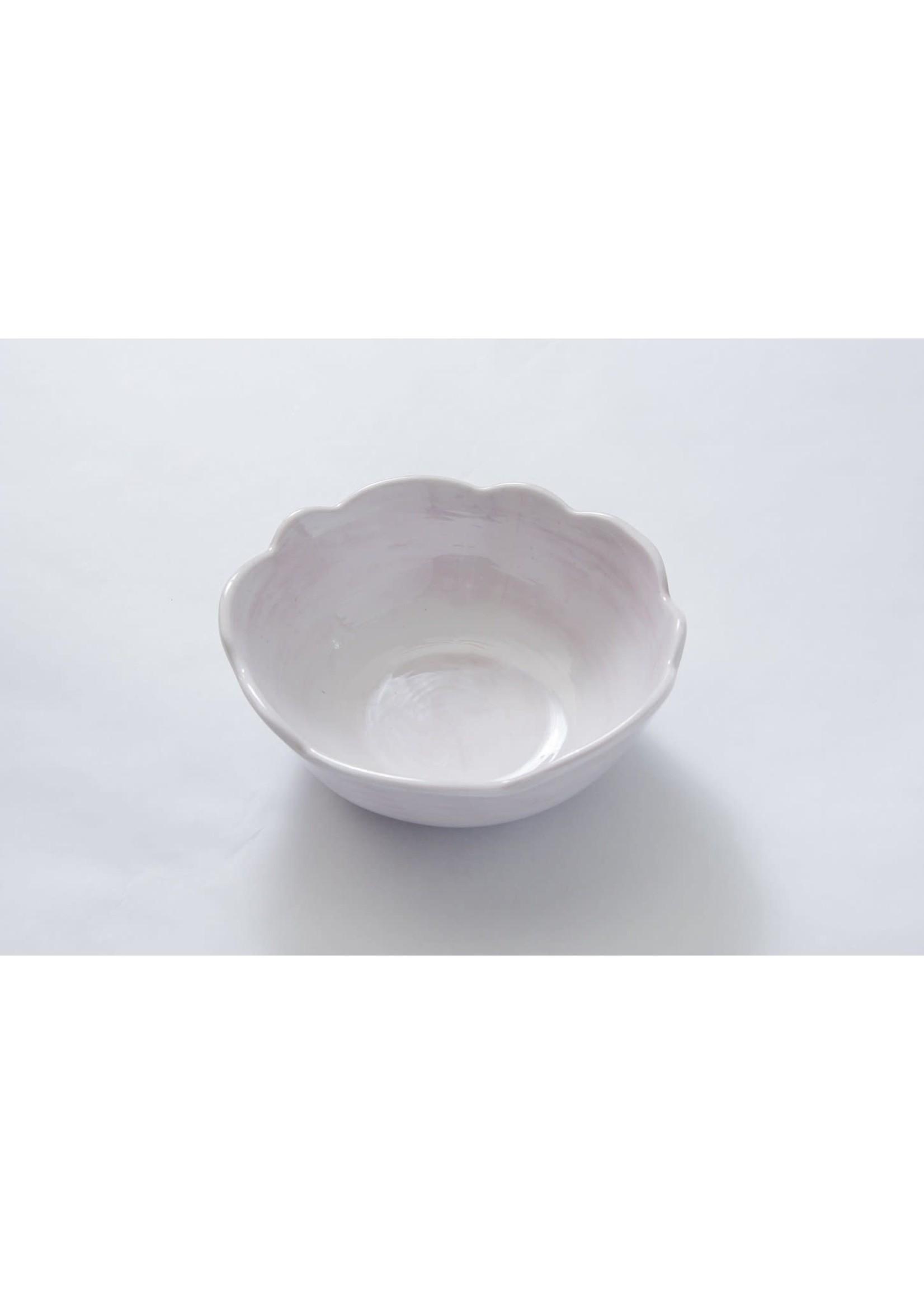 Relish Melamine - Scalloped Soup/Cereal Bowl - White
