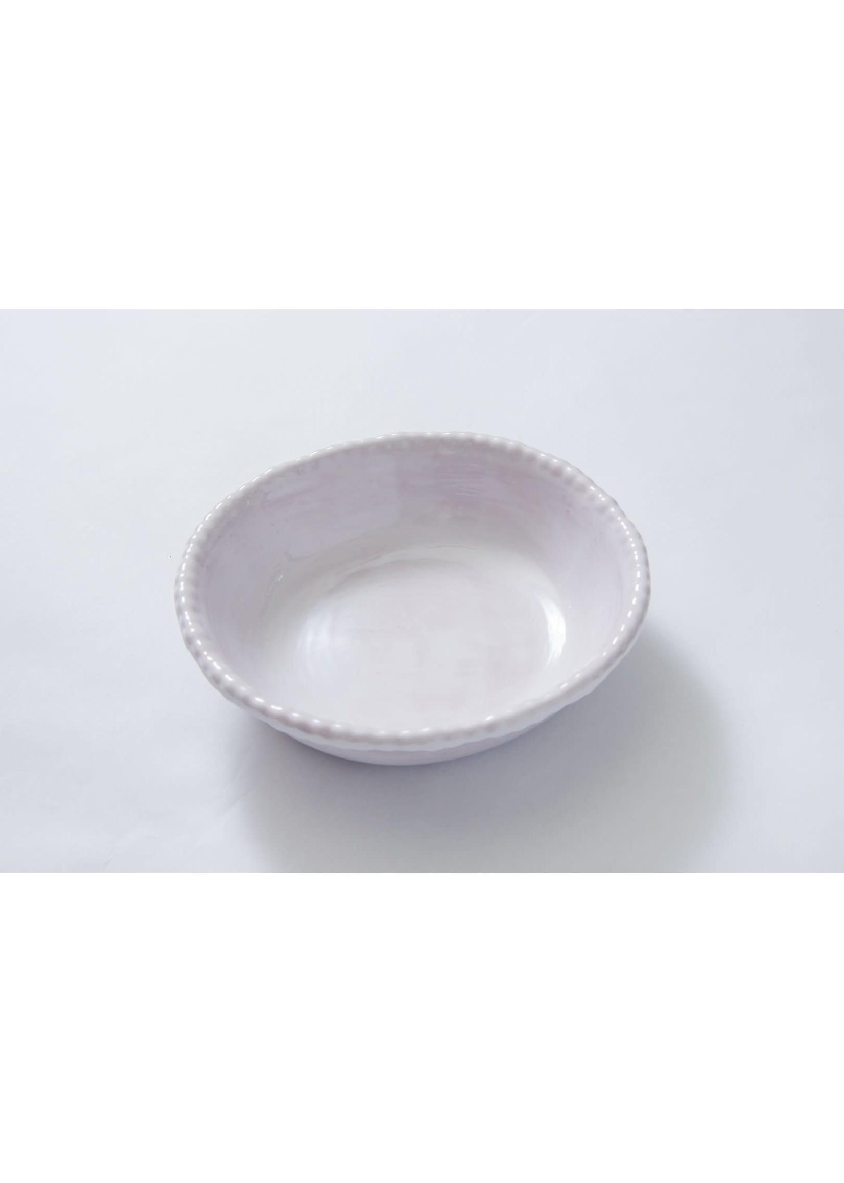 Relish Melamine - Beaded Soup/Cereal Bowl - White