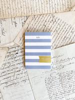 Mini Notepad - Blue Stripe Hello