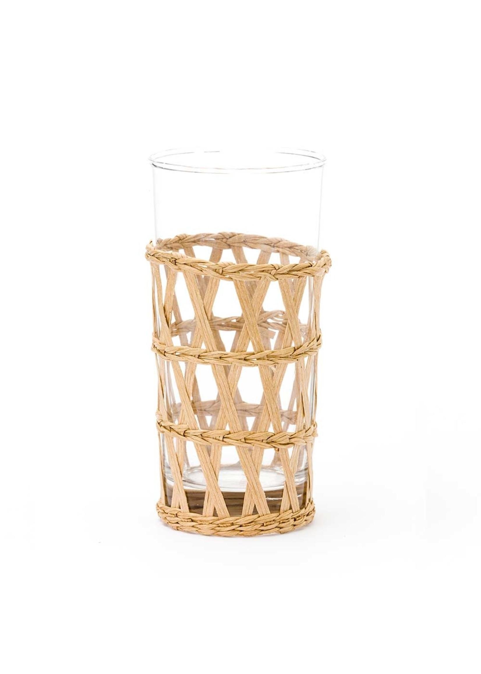 Amanda Lindroth Island Wrapped Ice Tea Glass - Natural