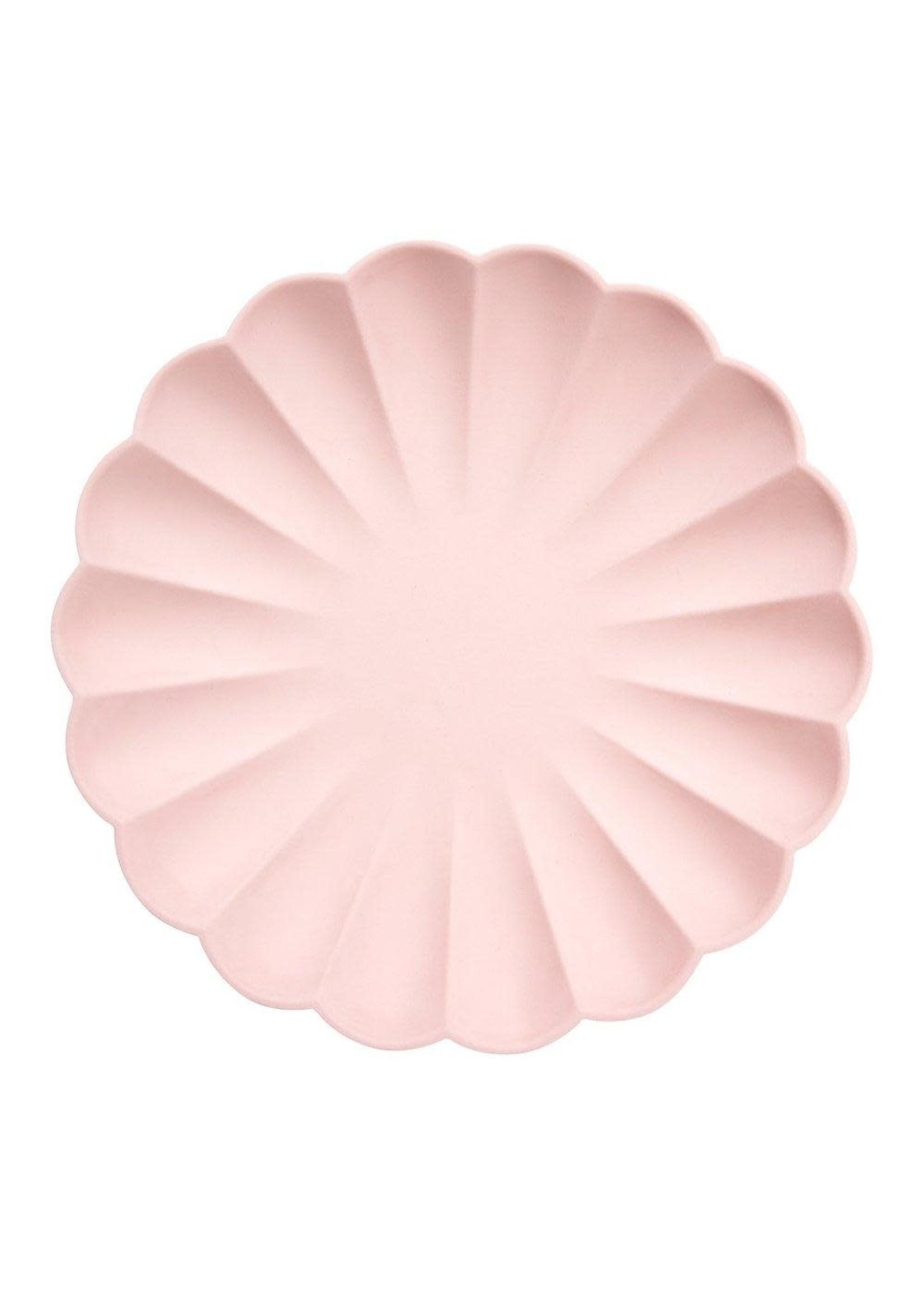 Meri Meri Paper Plates - Pale Pink Large