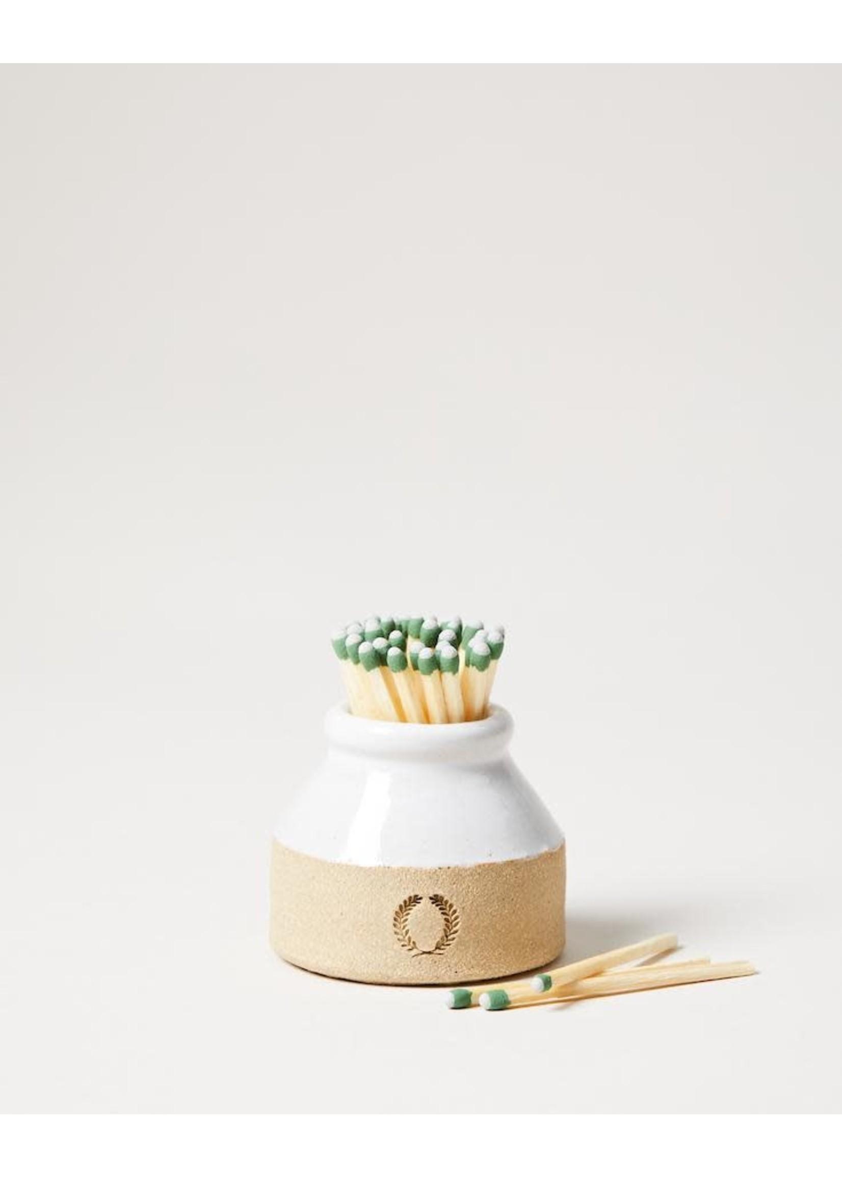 Farmhouse Pottery Match Striker - Milk Bottle