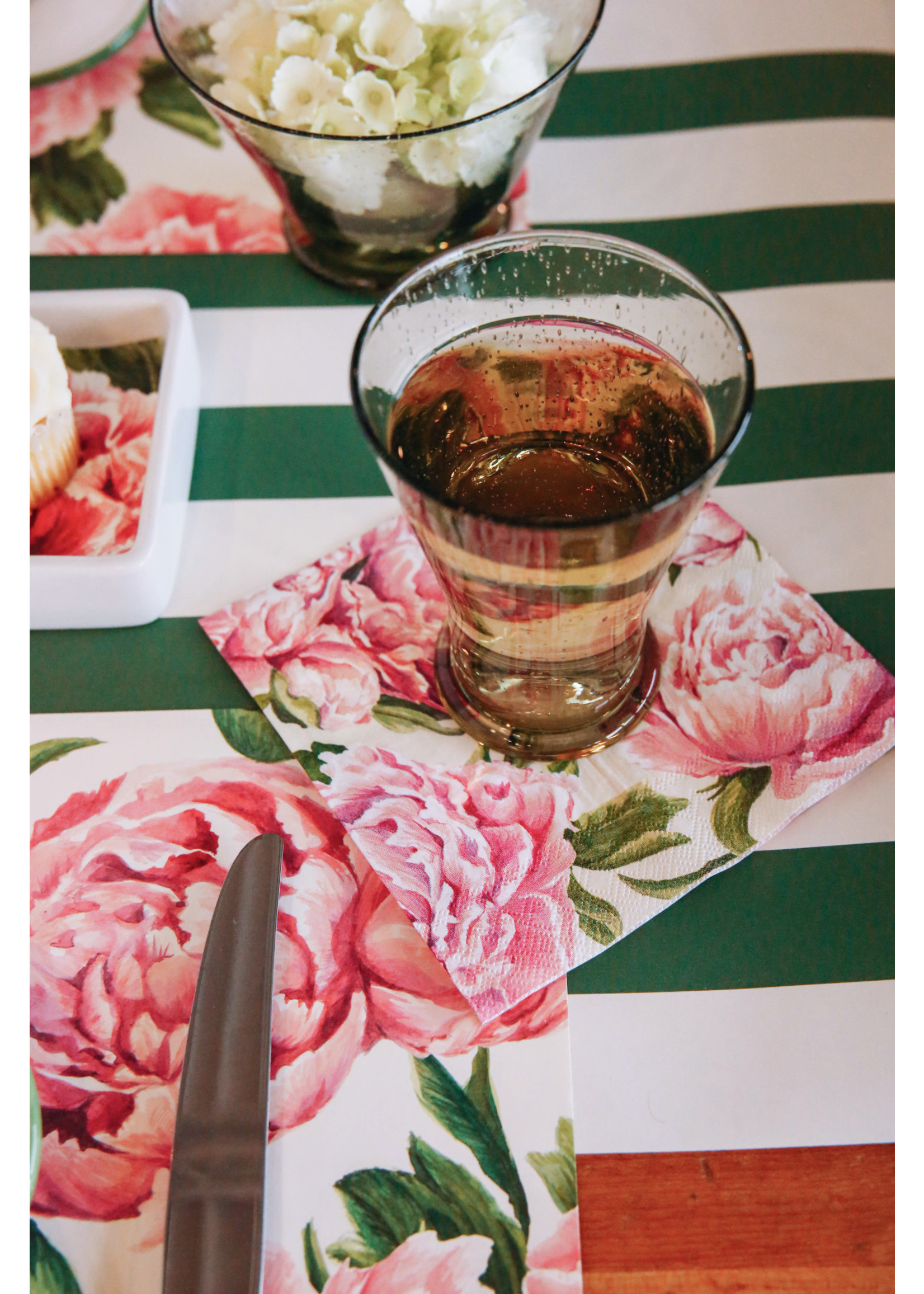 Hester & Cook Paper Cocktail Napkins - Peony (pack of 20)