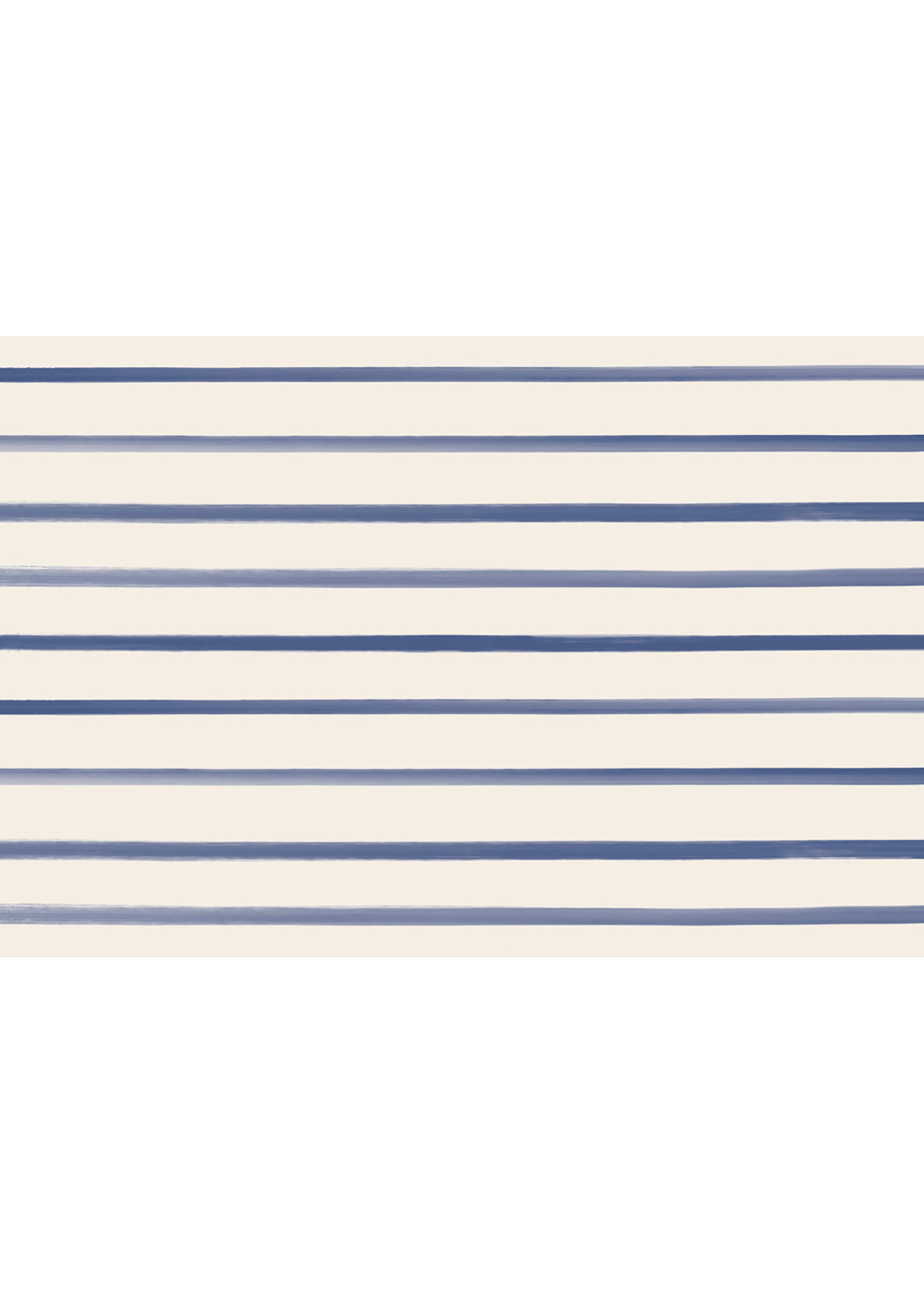 Hester & Cook Paper Placemats - Navy Stripe (24 sheets)