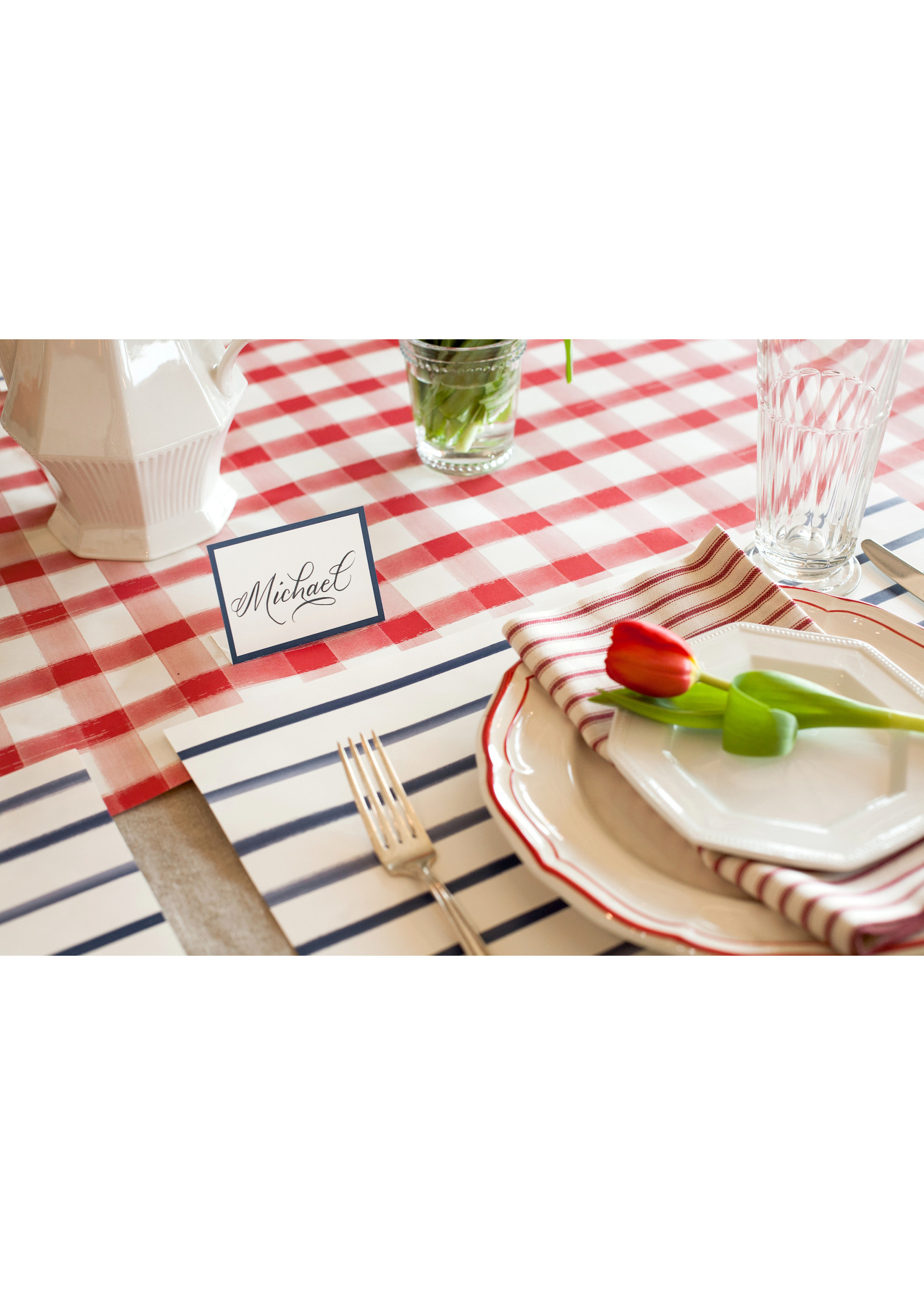 Hester & Cook Paper Runner - Red Check