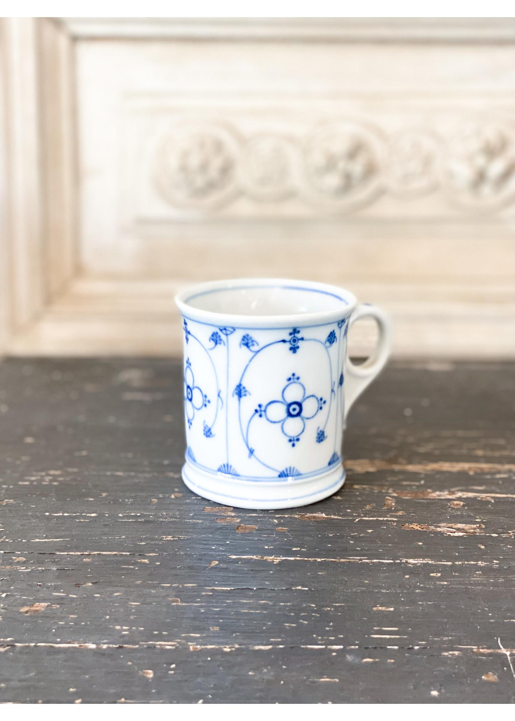 Antique Antique Blue & White Mug