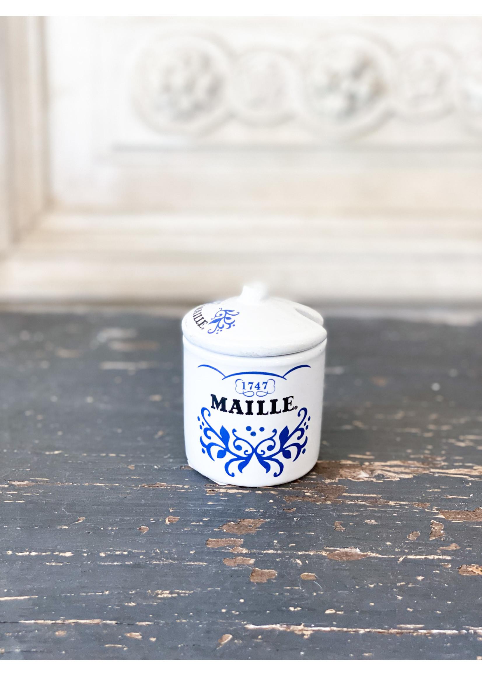 Antique Vintage Maille Petite Mustard Jar