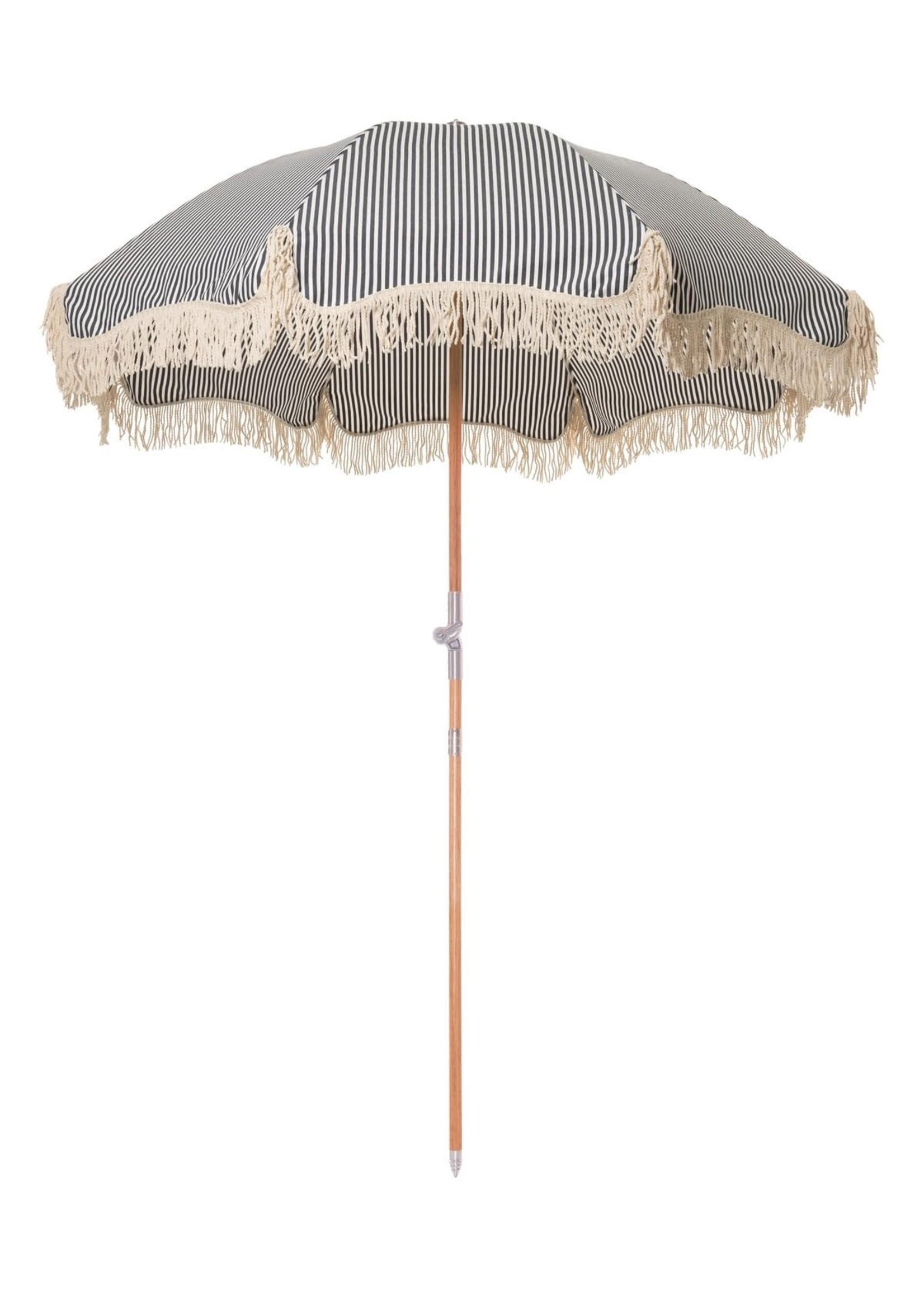 Premium Beach Umbrella - Laurens Navy Stripe