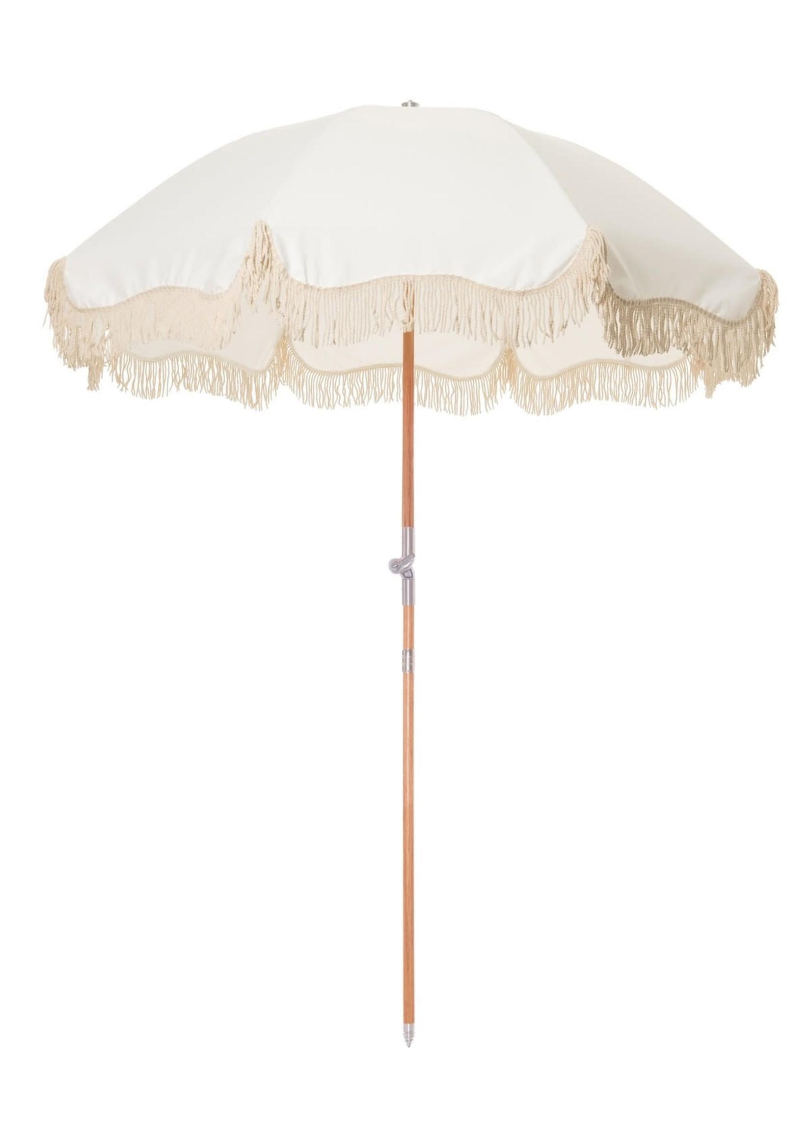 Premium Beach Umbrella - Antique White