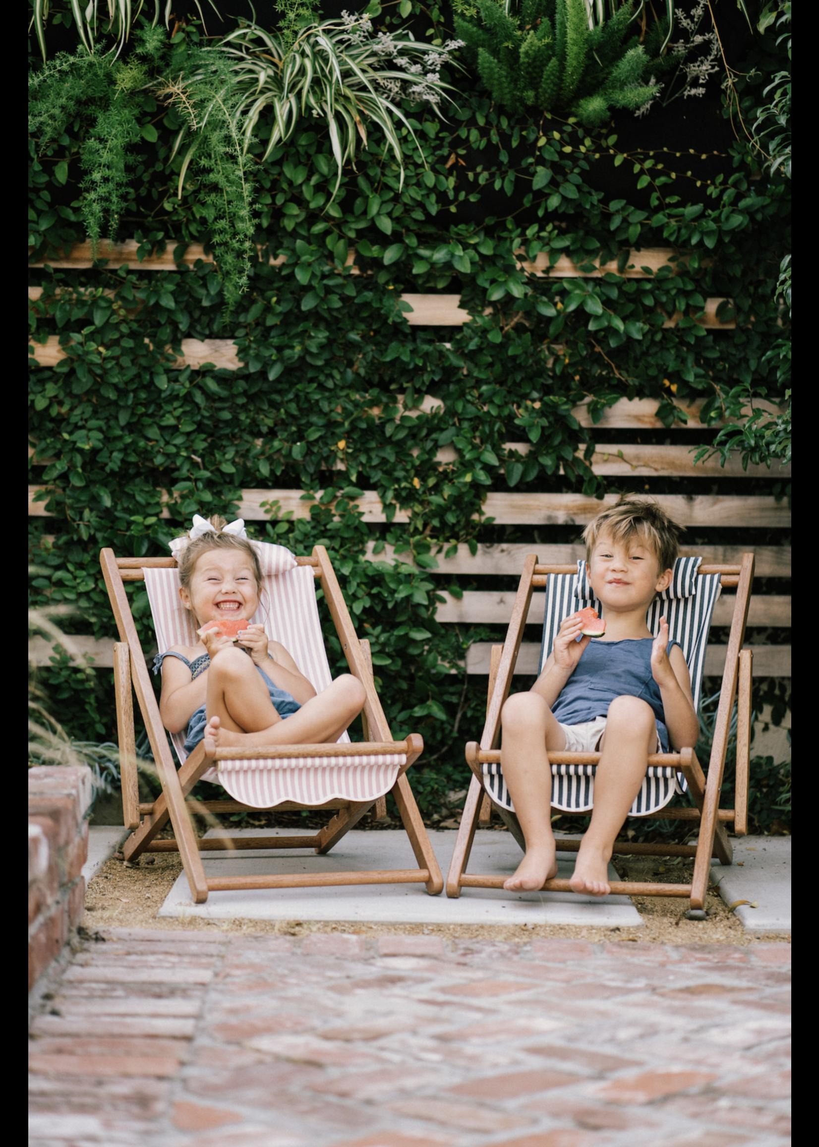 Mini Sling Chair - Laurens Navy Stripe