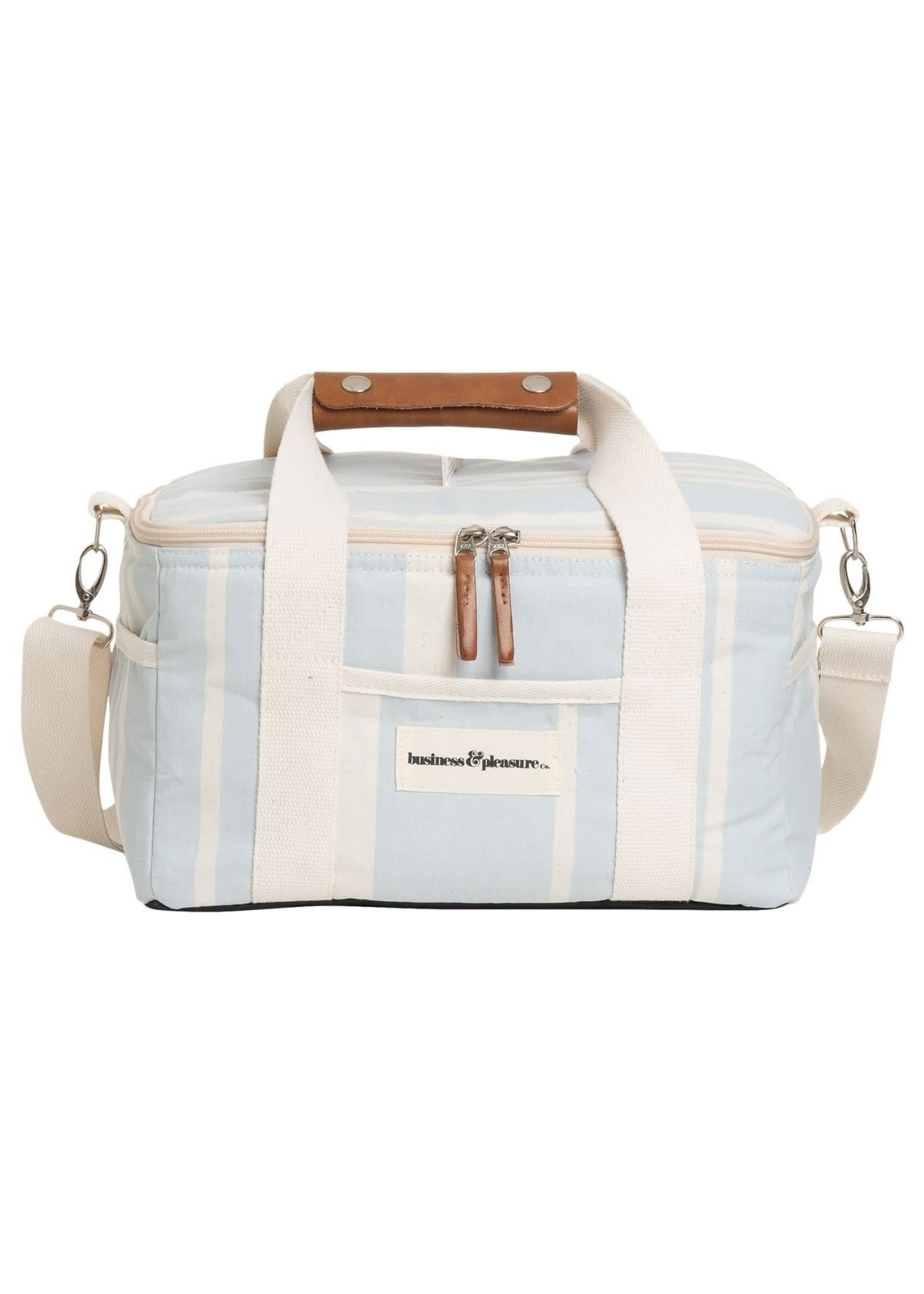 Premium Cooler - Vintage Blue Stripe
