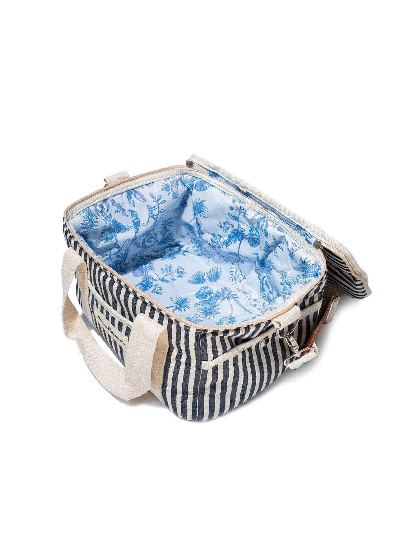 Premium Cooler - Laurens Navy Stripe