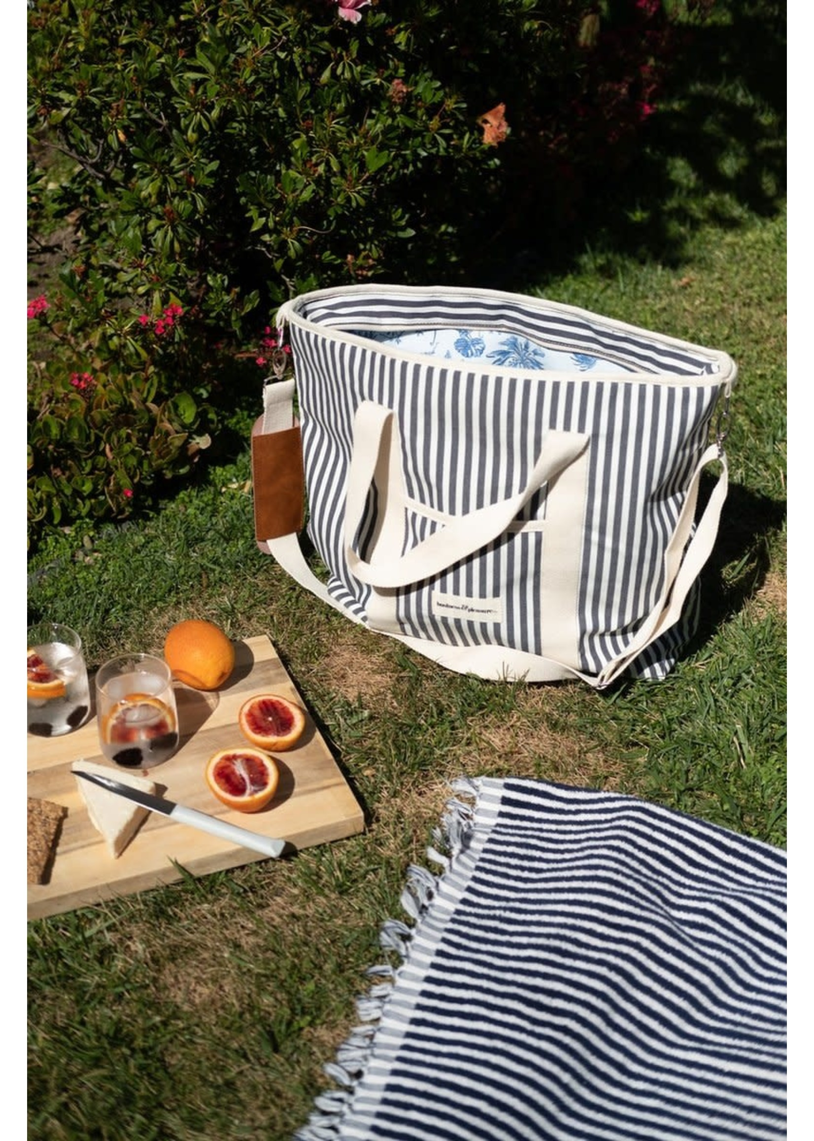 Cooler Tote Bag - Laurens Navy Stripe