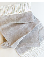 """Busatti Runner Giglio Hand Knotted Fringe Taupe 16""""x59"""""""