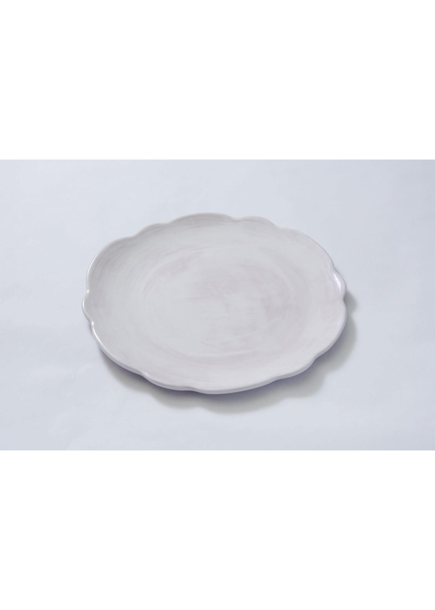Relish Melamine - Scalloped Dinner Plate - White