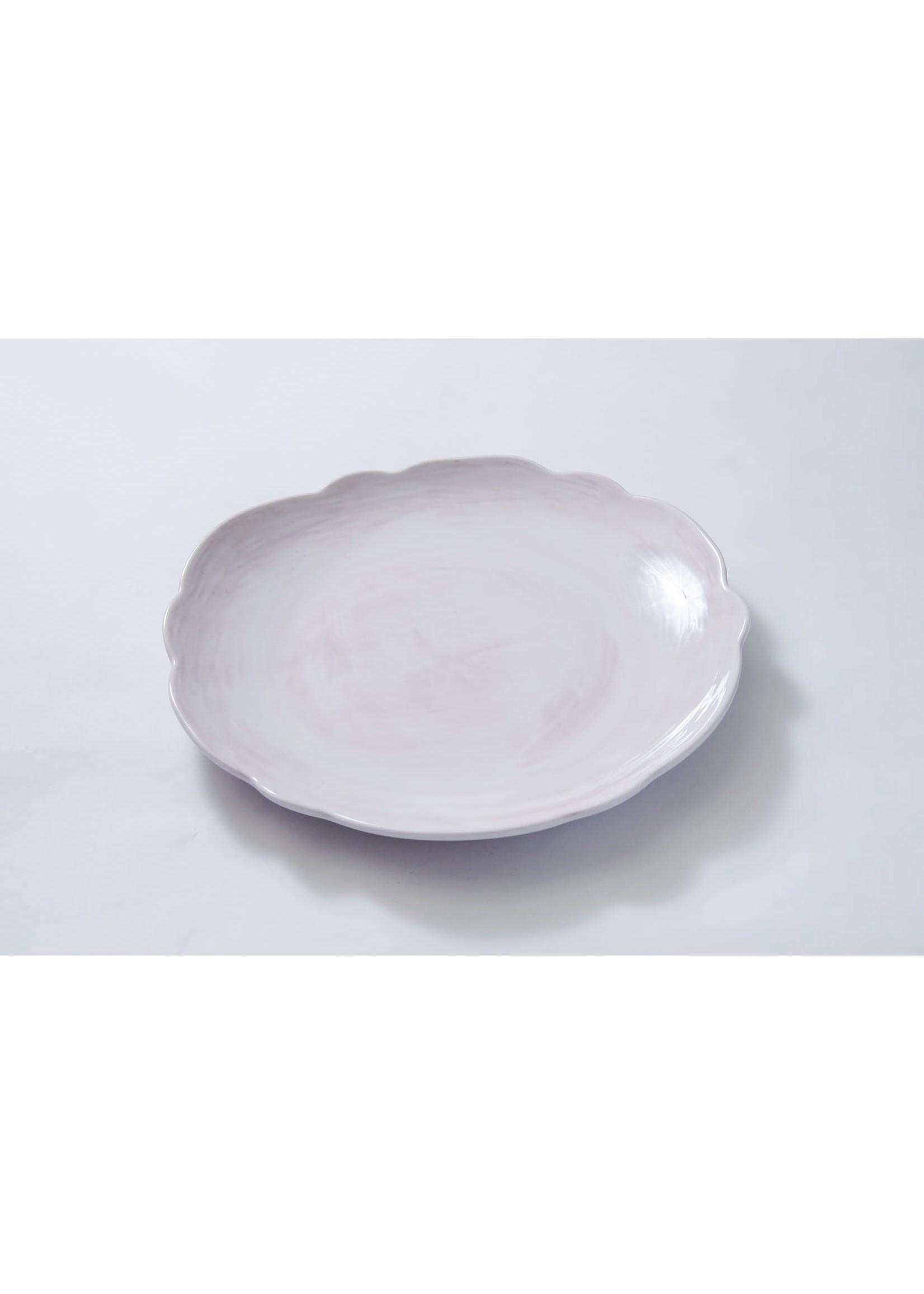 Relish Melamine - Scalloped Salad Plate - White