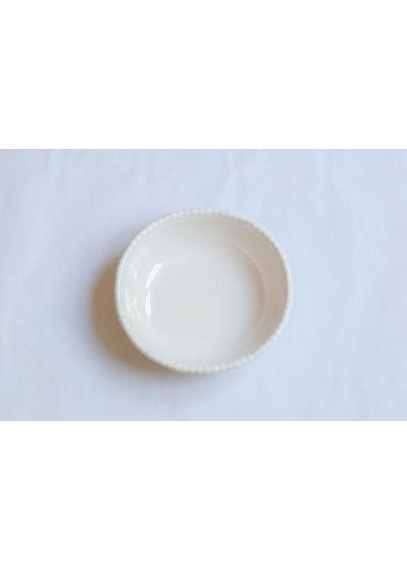 Relish Melamine - Beaded Serving Bowl - Cream