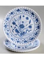Melamine Plate - Blue Flow (Set of 4)