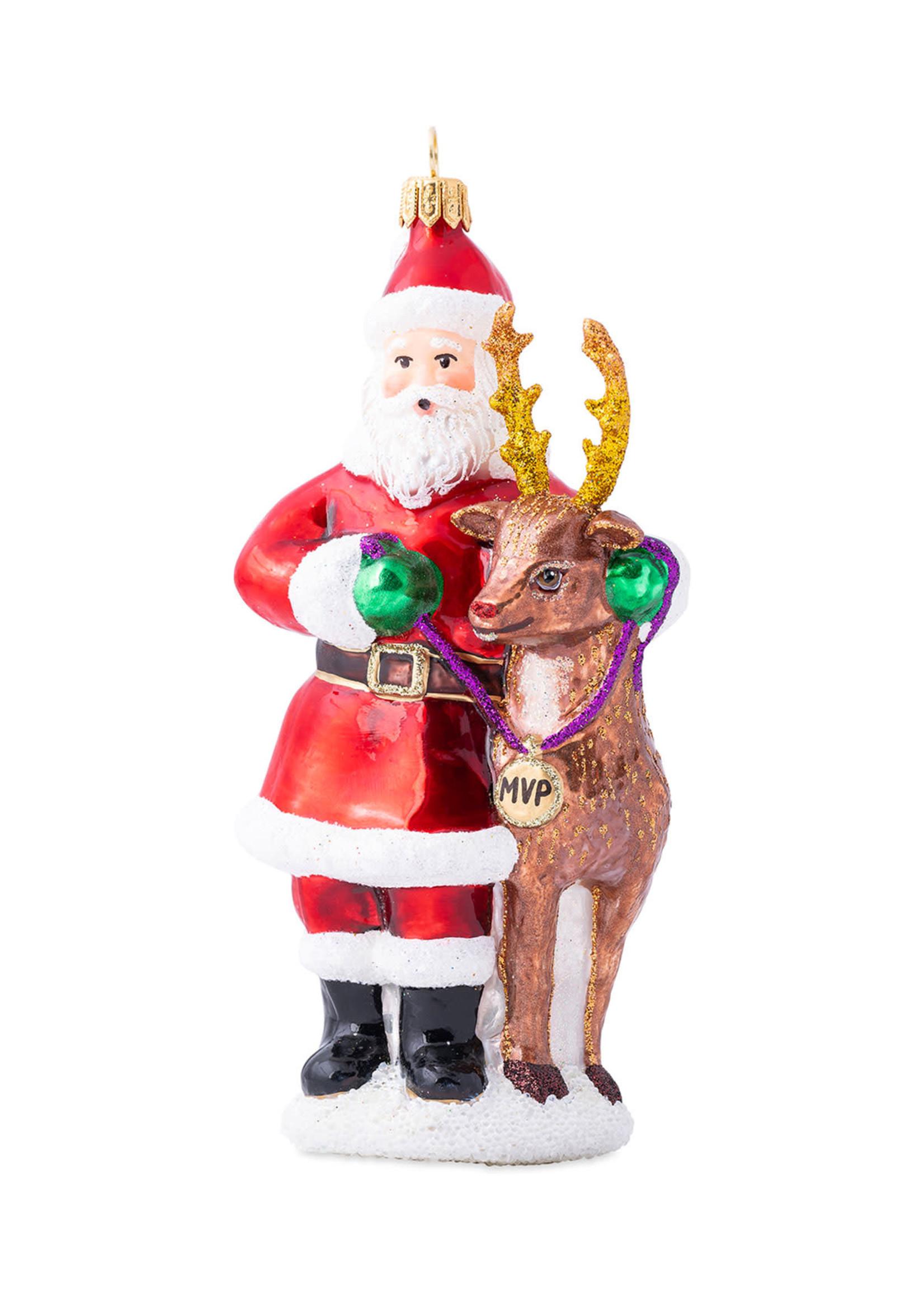 Juliska Ornament - Santa & Rudolph MVP