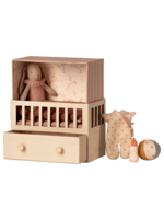 Maileg Baby Room with Micro Bunny - Pink