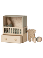Maileg Baby Room with Micro Rabbit - Blue