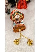 Christopher Radko Ornament - Joyful Christmas Clock