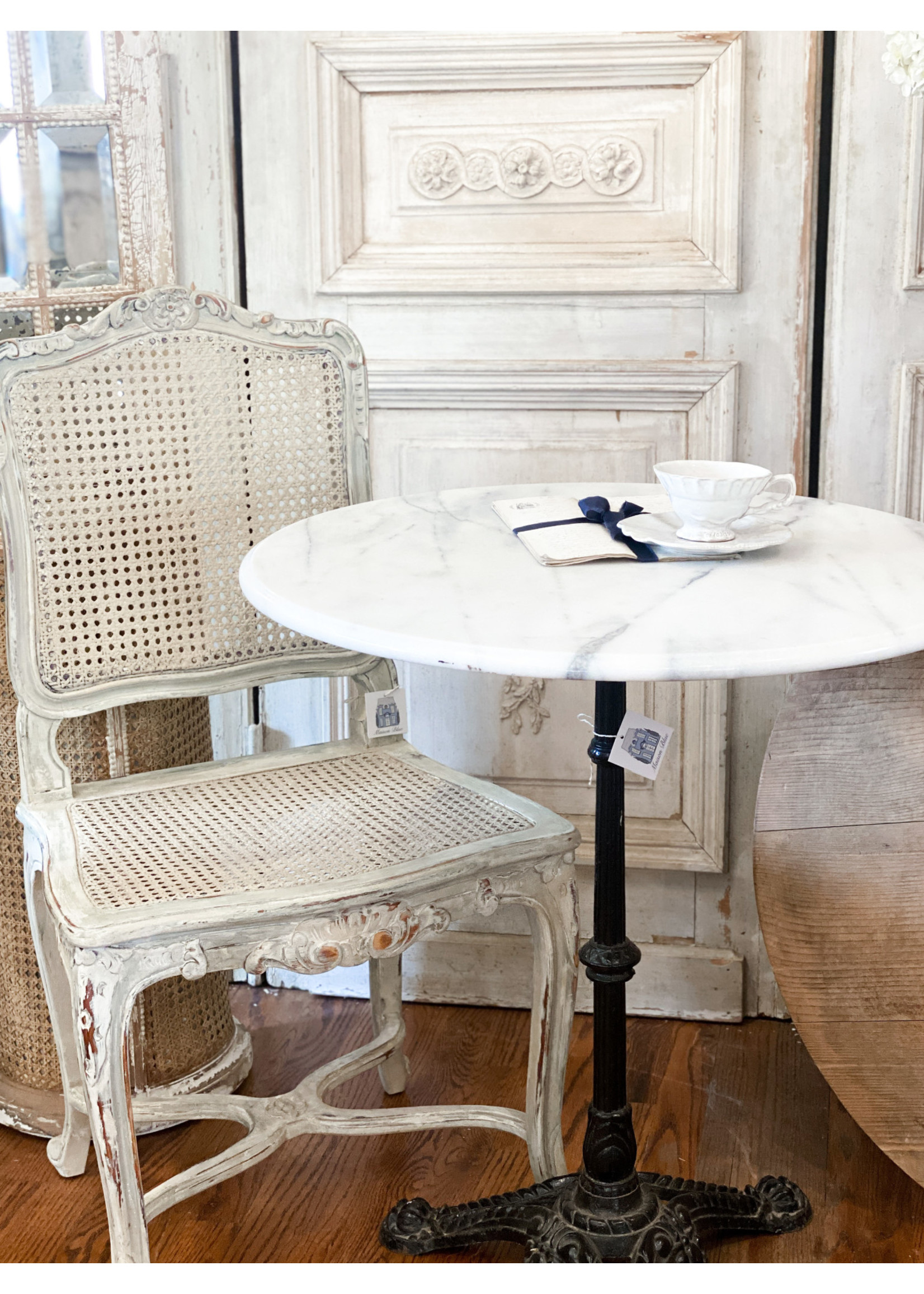 Antique Marble Top Bistro Table