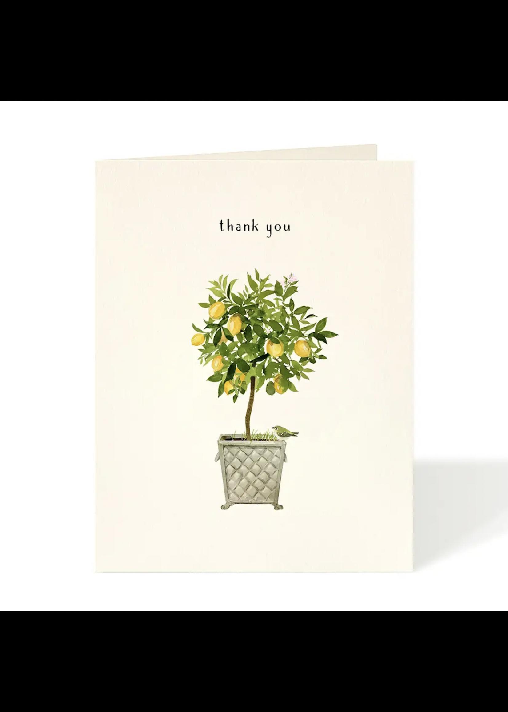 Felix Doolittle Card - Thank You Lemon Topiary