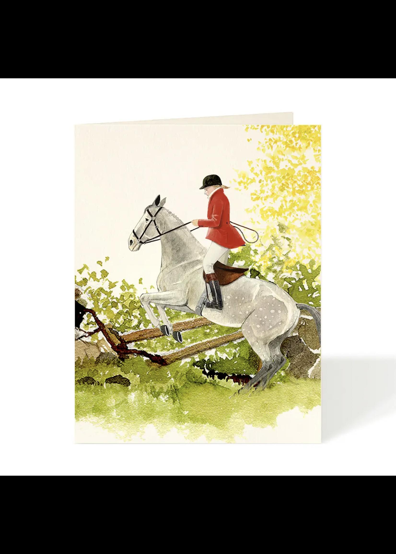 Felix Doolittle Card - Equestrian Over the Fence