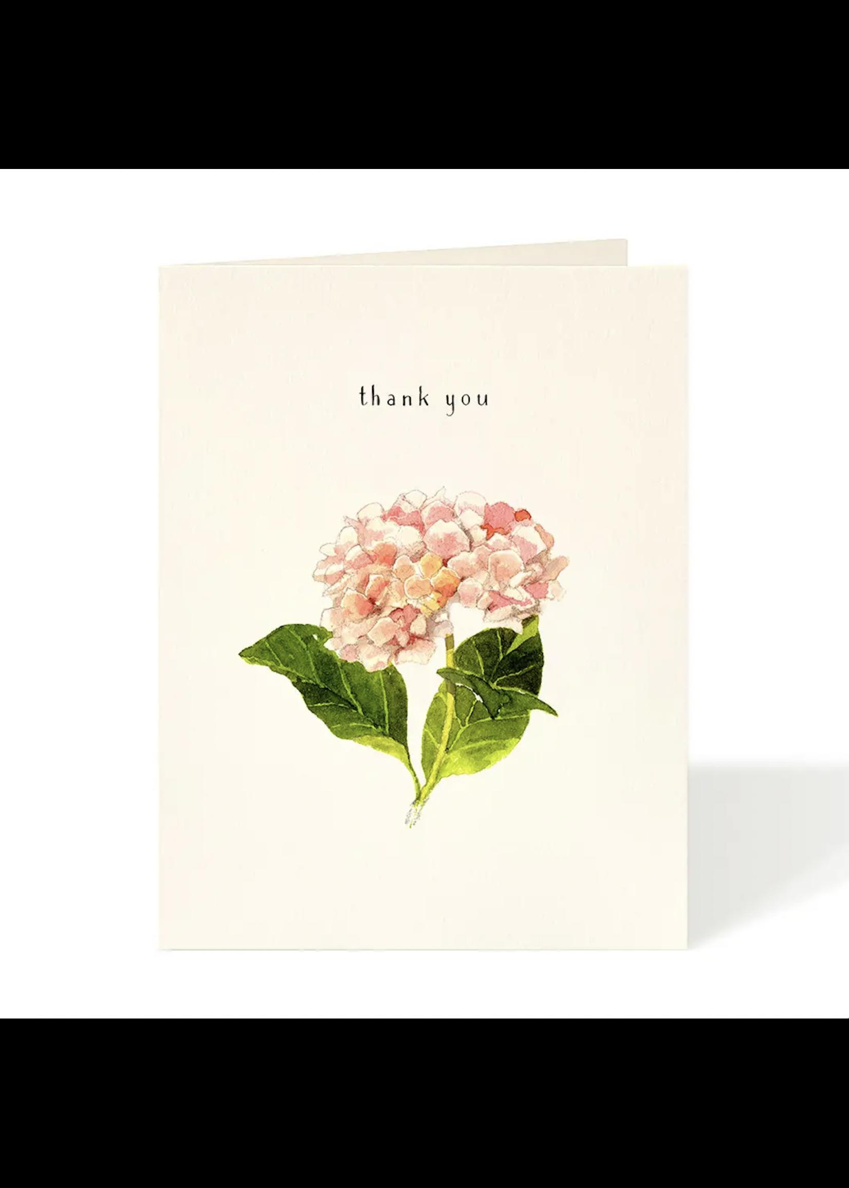 Felix Doolittle Card - Thank You Hydrangea Pink