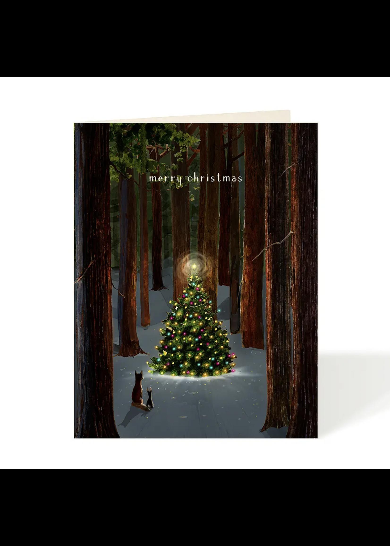 Felix Doolittle Card - Holiday Tree Lighting