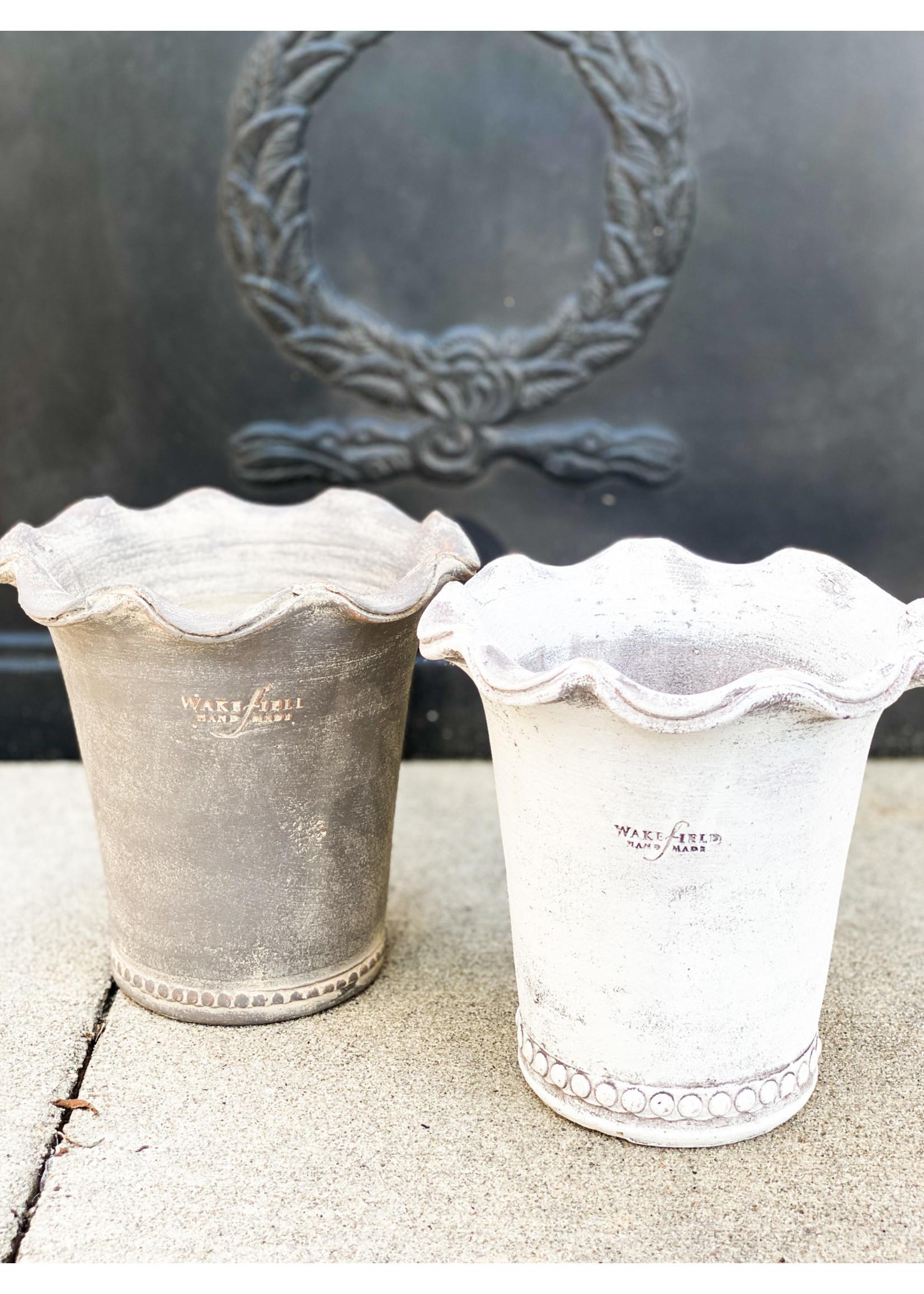Wakefield Pottery - Festonee Pot White #6
