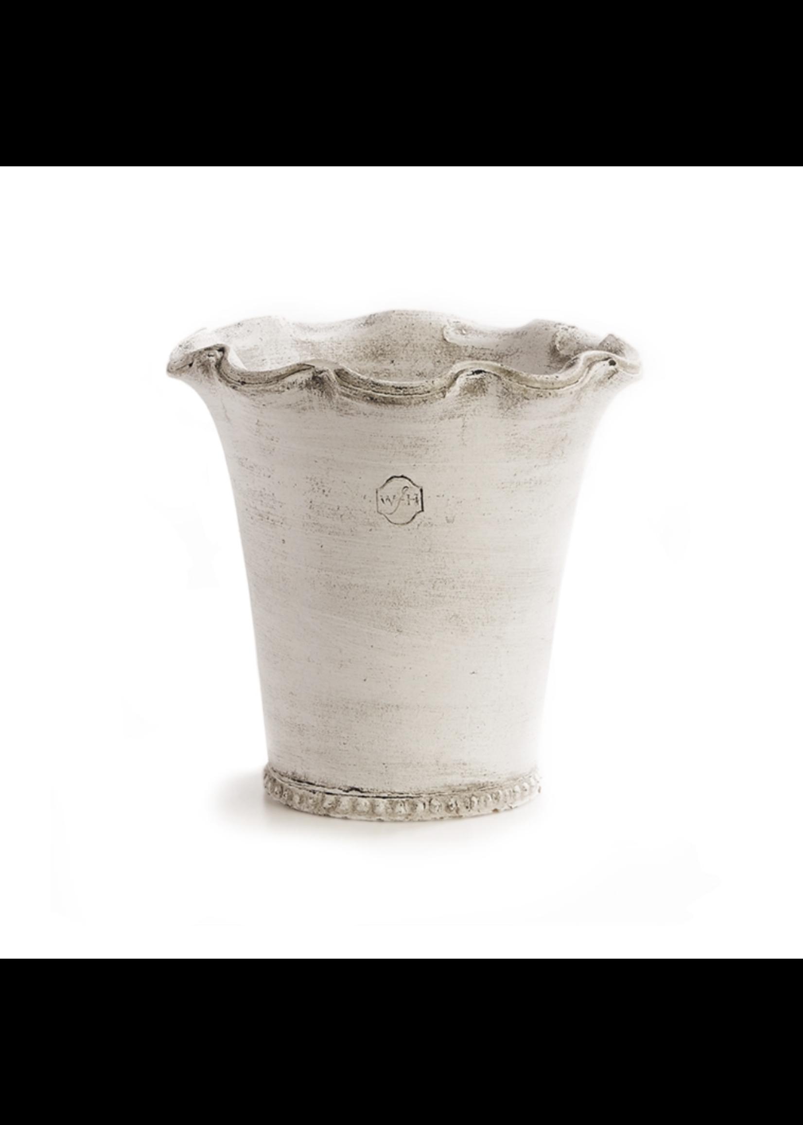 Wakefield Pottery - Festonee Pot White #4