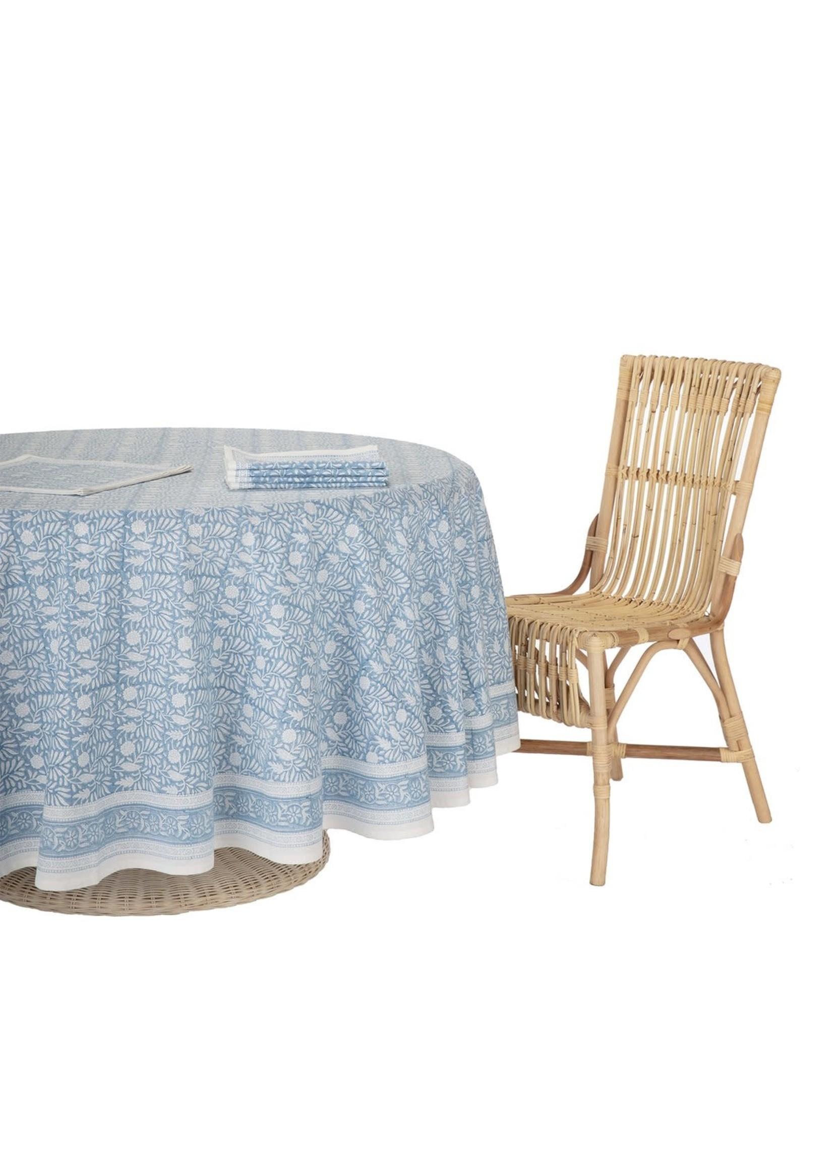 Amanda Lindroth Tablecloth - Jasmine Blue - Round