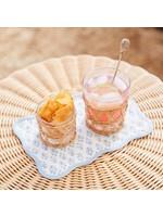 Amanda Lindroth Cocktail Napkin Set - Batik Blue