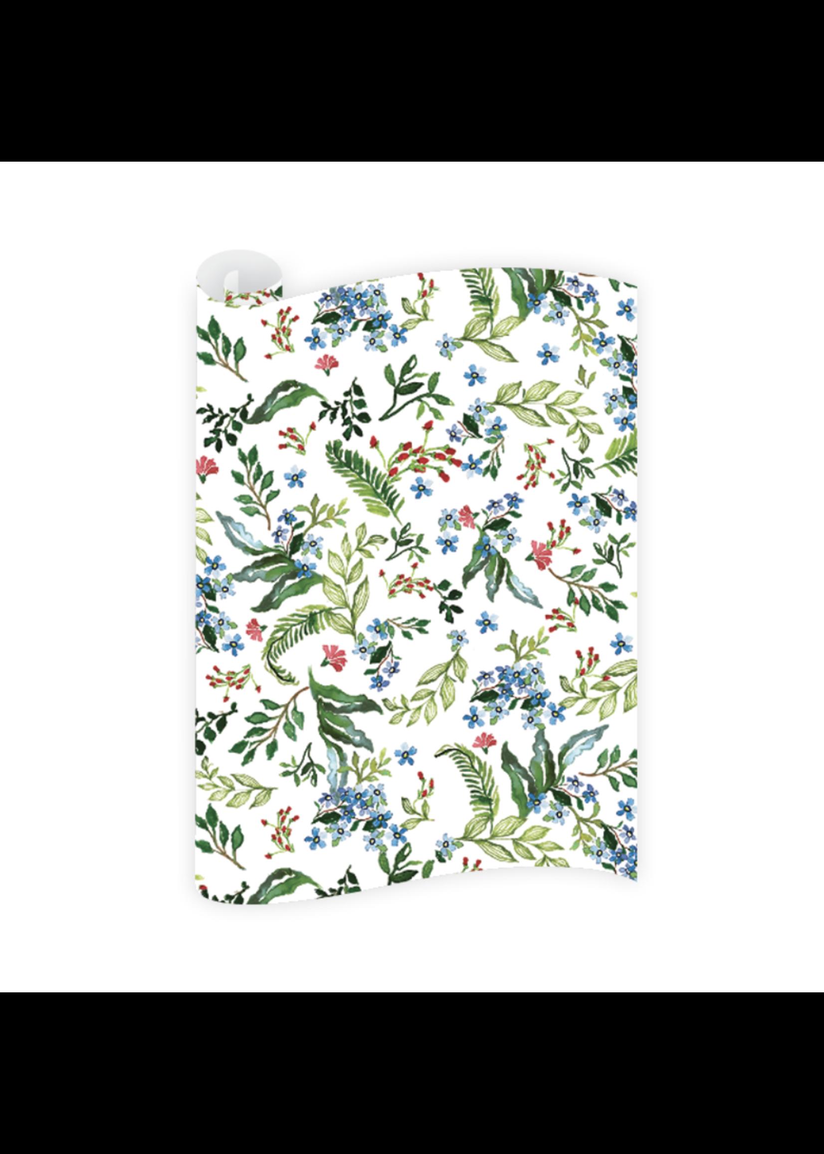 Dogwood Hill Gift Wrap Sheets - Jardin Majorelle (3 sheets)