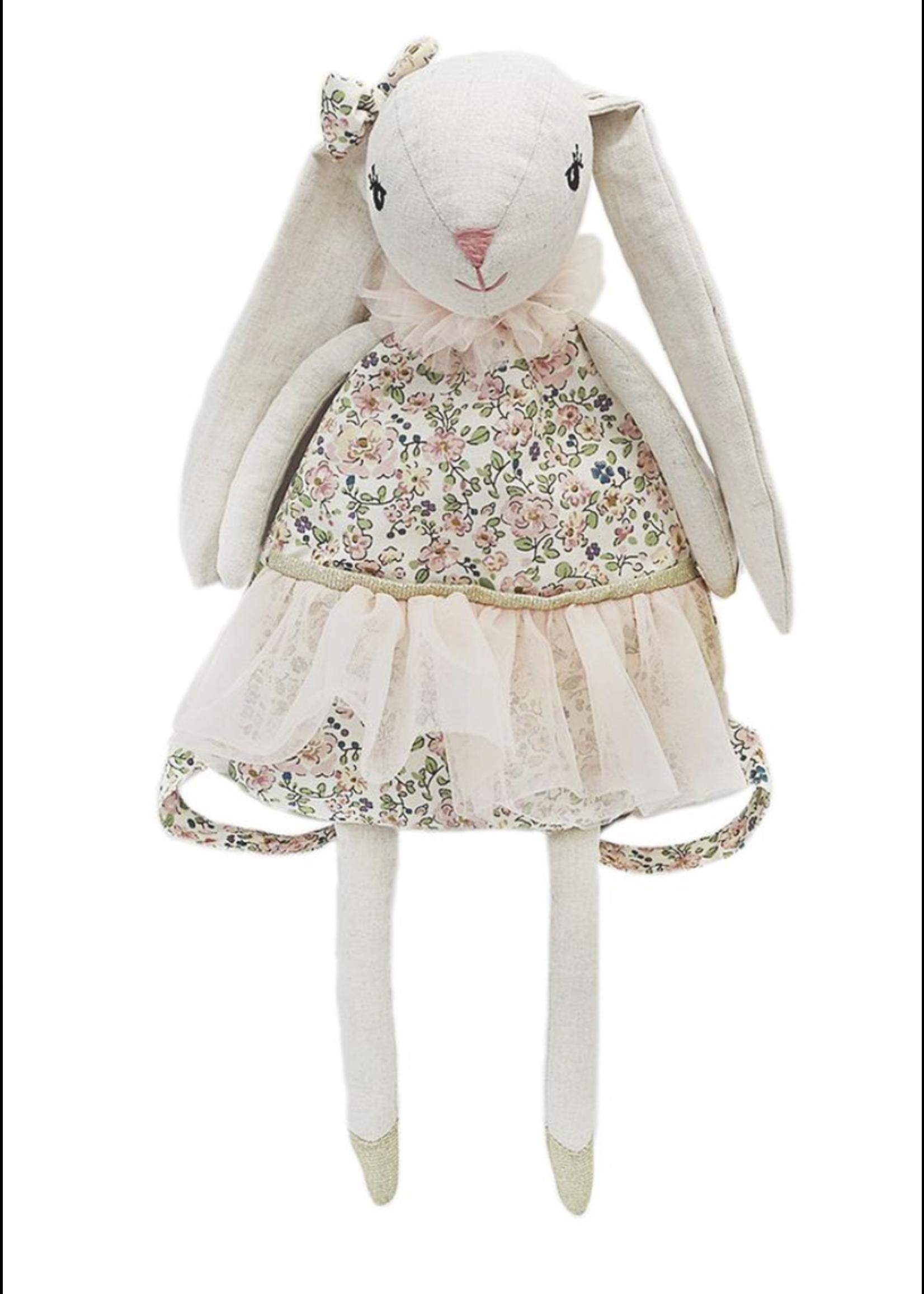 Mon Ami Linen Bunny Backpack