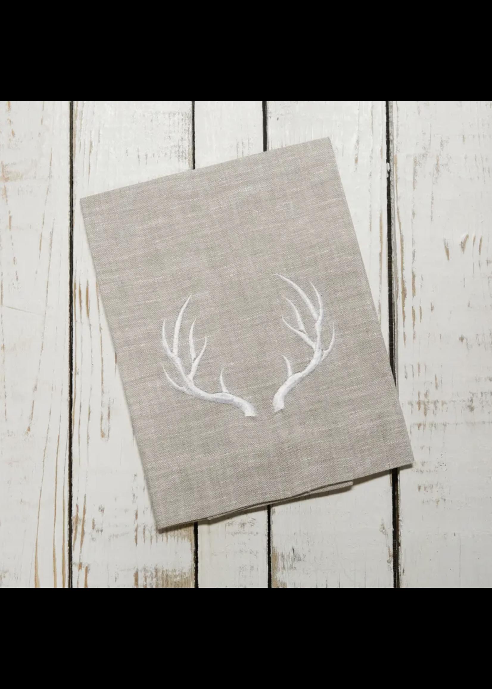 Crown Linen Trifold Napkin - Antler Flax