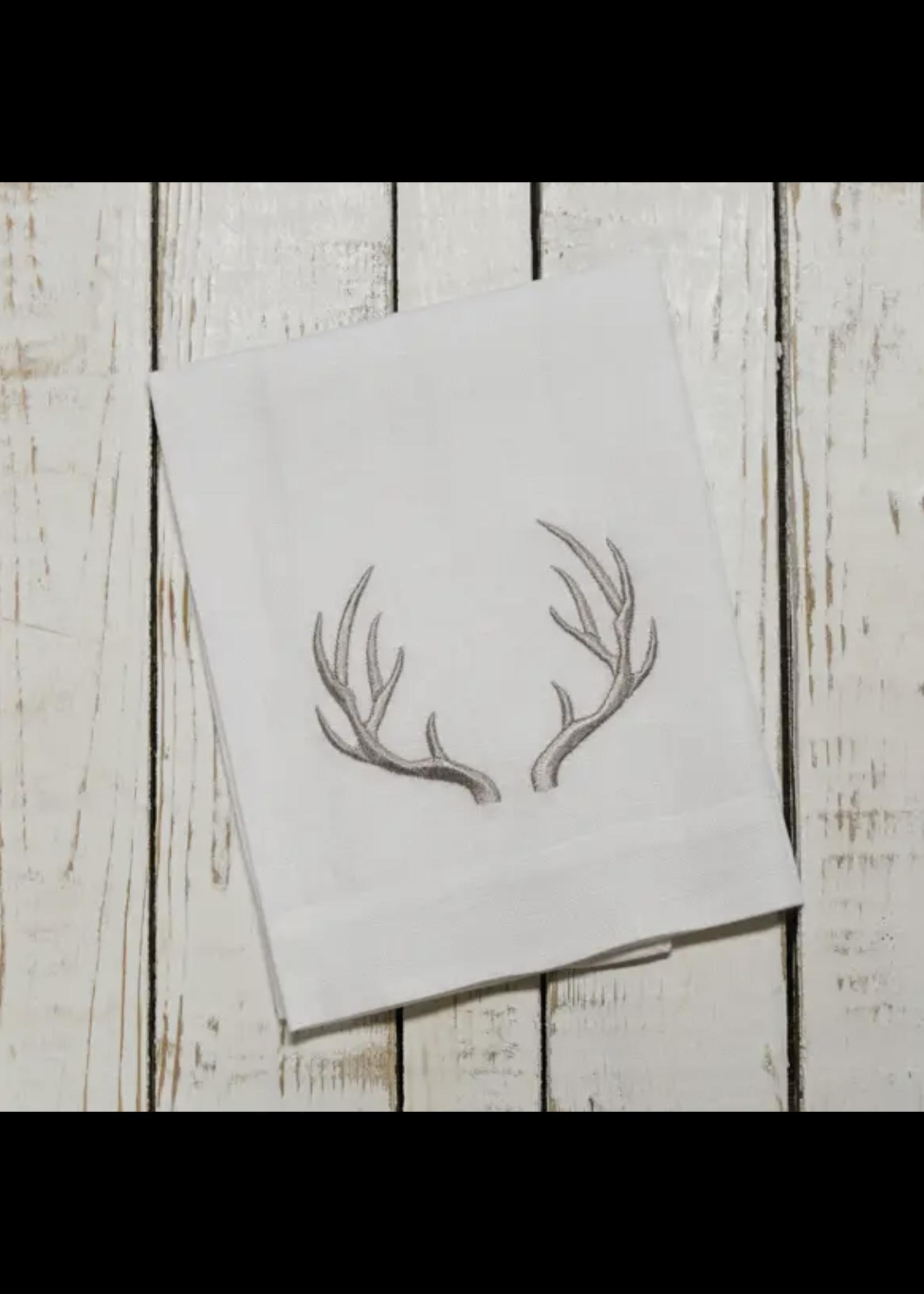 Crown Linen Trifold Napkin - Antler White