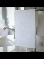 Crown Linen Towel - Crest White (White)